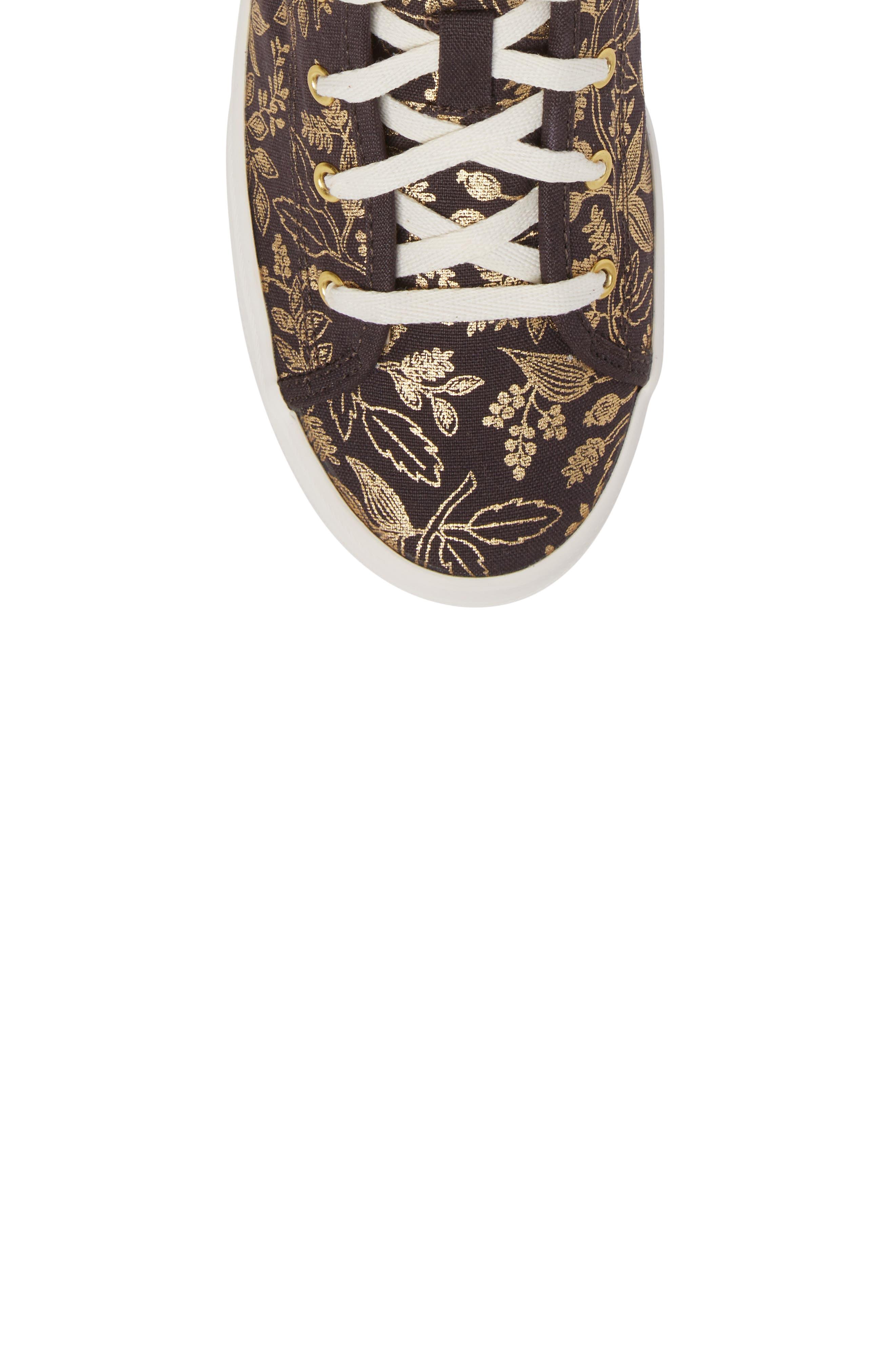 Alternate Image 5  - Keds® x Rifle Paper Co. Queen Anne High Top Sneaker (Women)