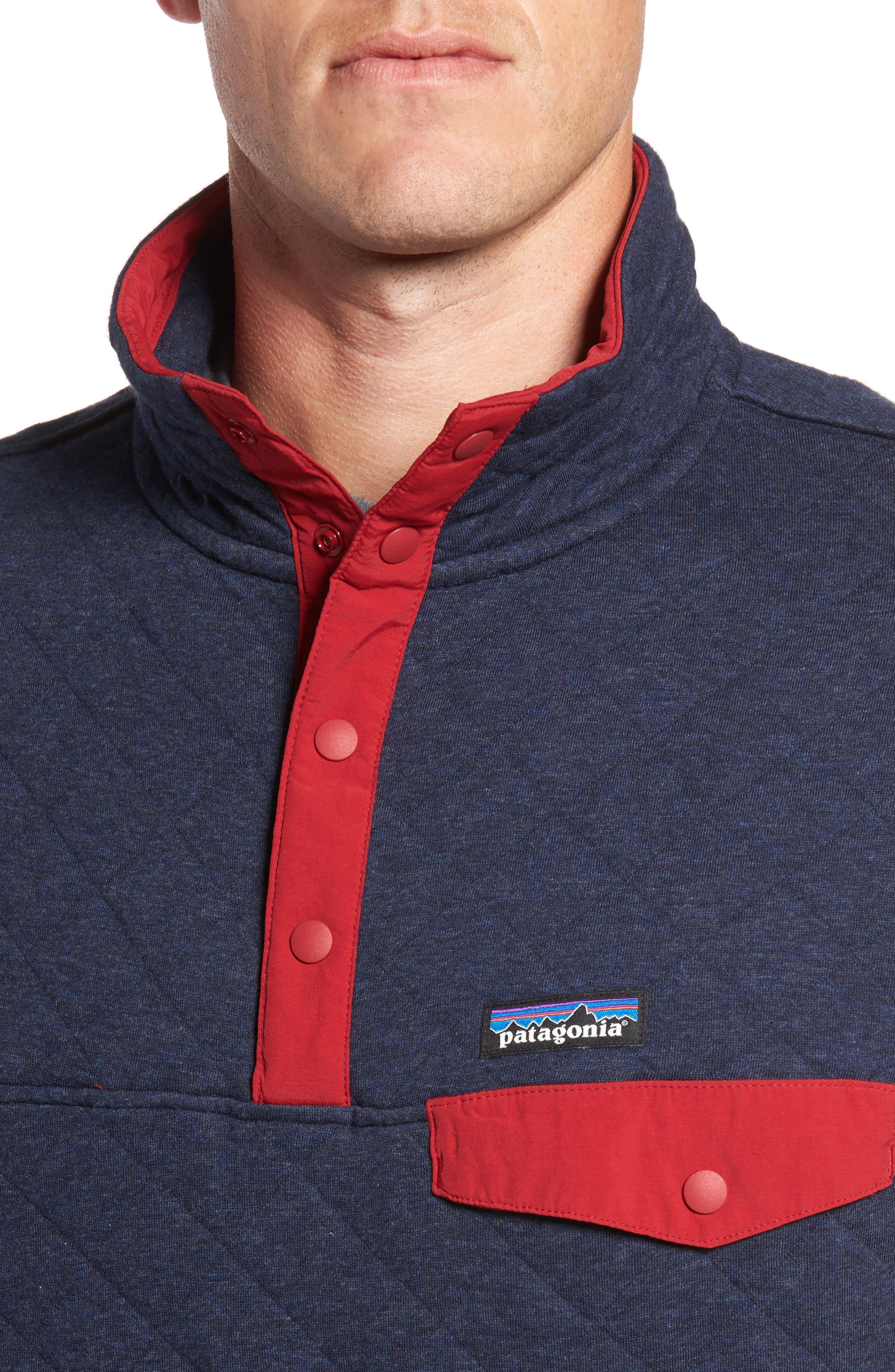 Alternate Image 4  - Patagonia Snap-T Quilted Fleece Pullover