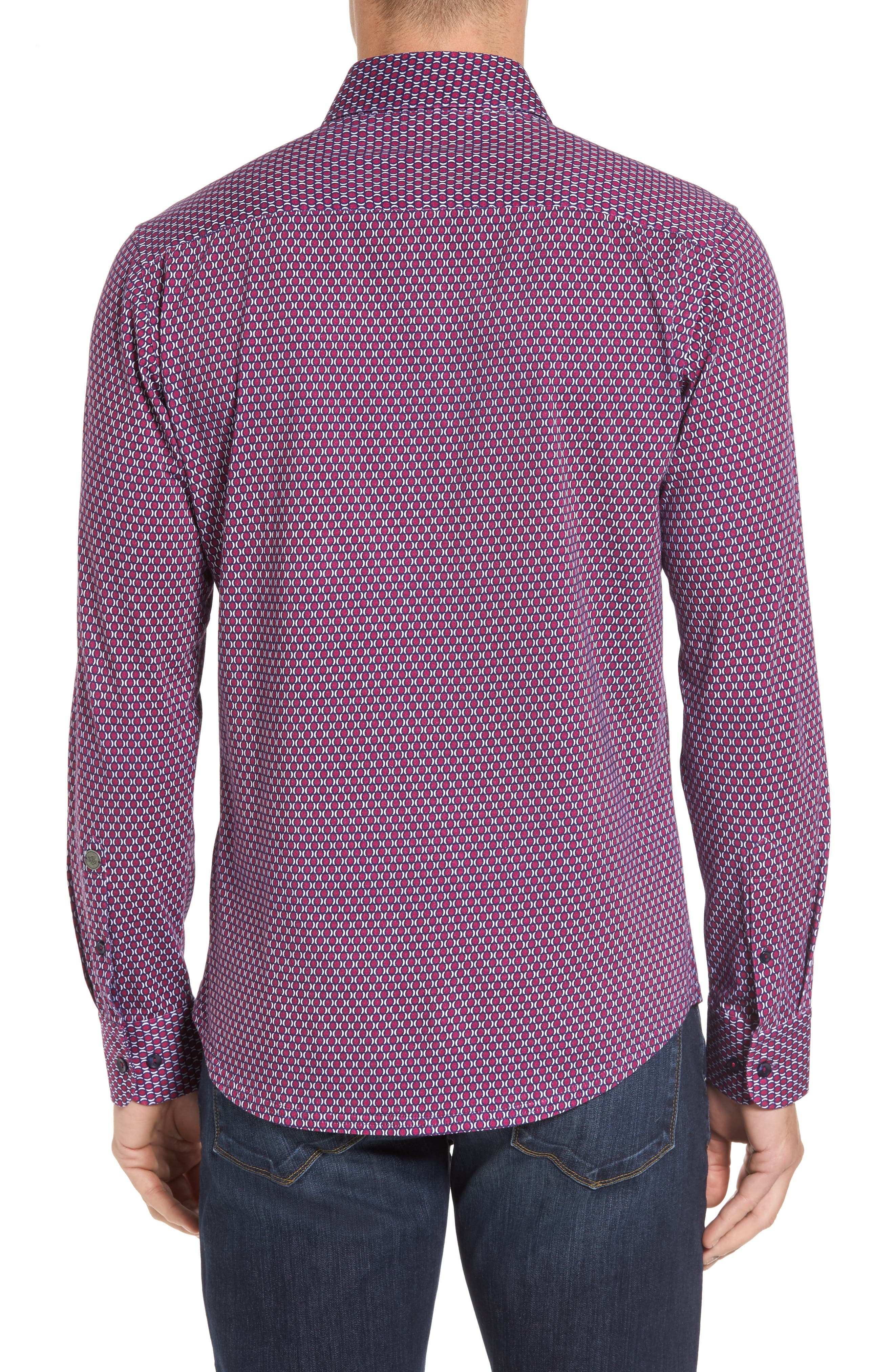Alternate Image 2  - Stone Rose Slim Fit Geo Knit Sport Shirt
