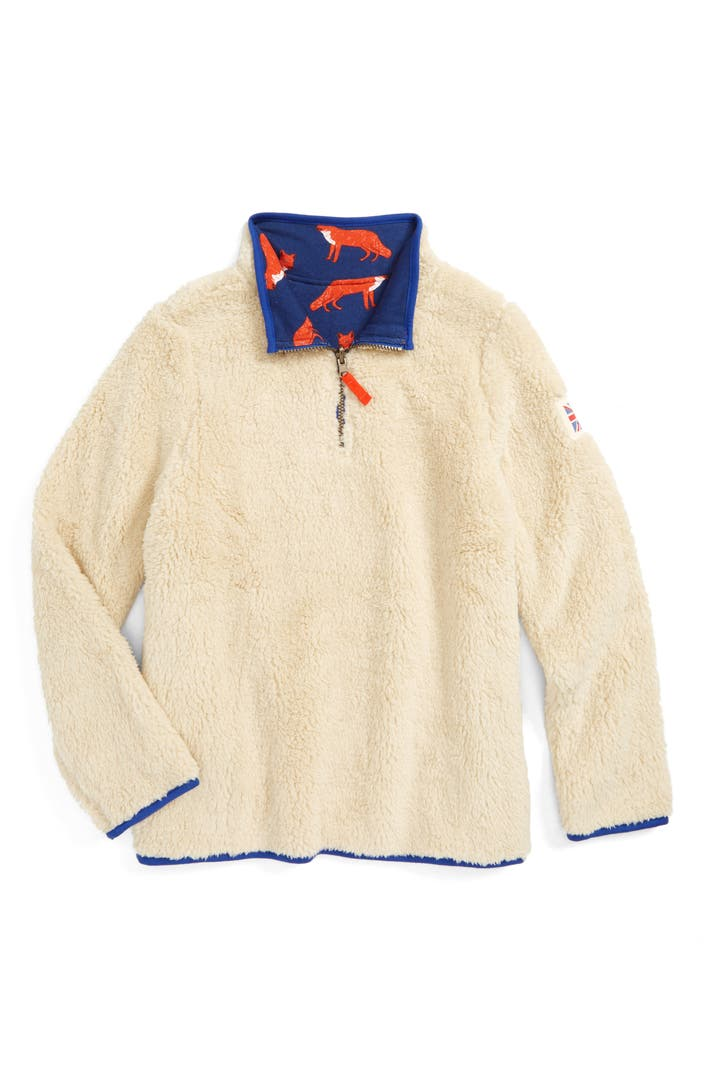 Mini boden reversible quarter zip sweatshirt toddler boys for Shop mini boden