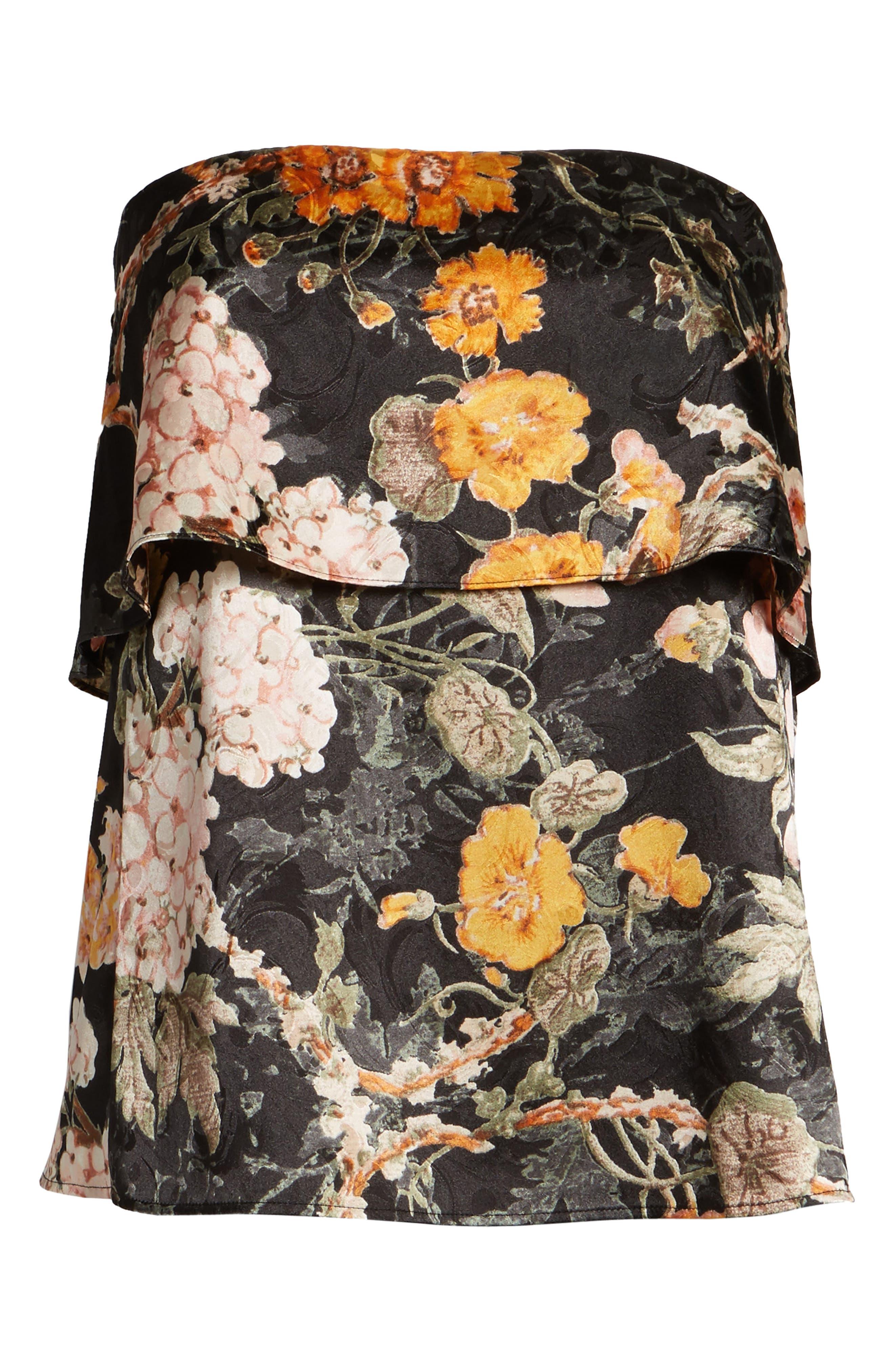 Alternate Image 6  - WAYF Floral Strapless Top