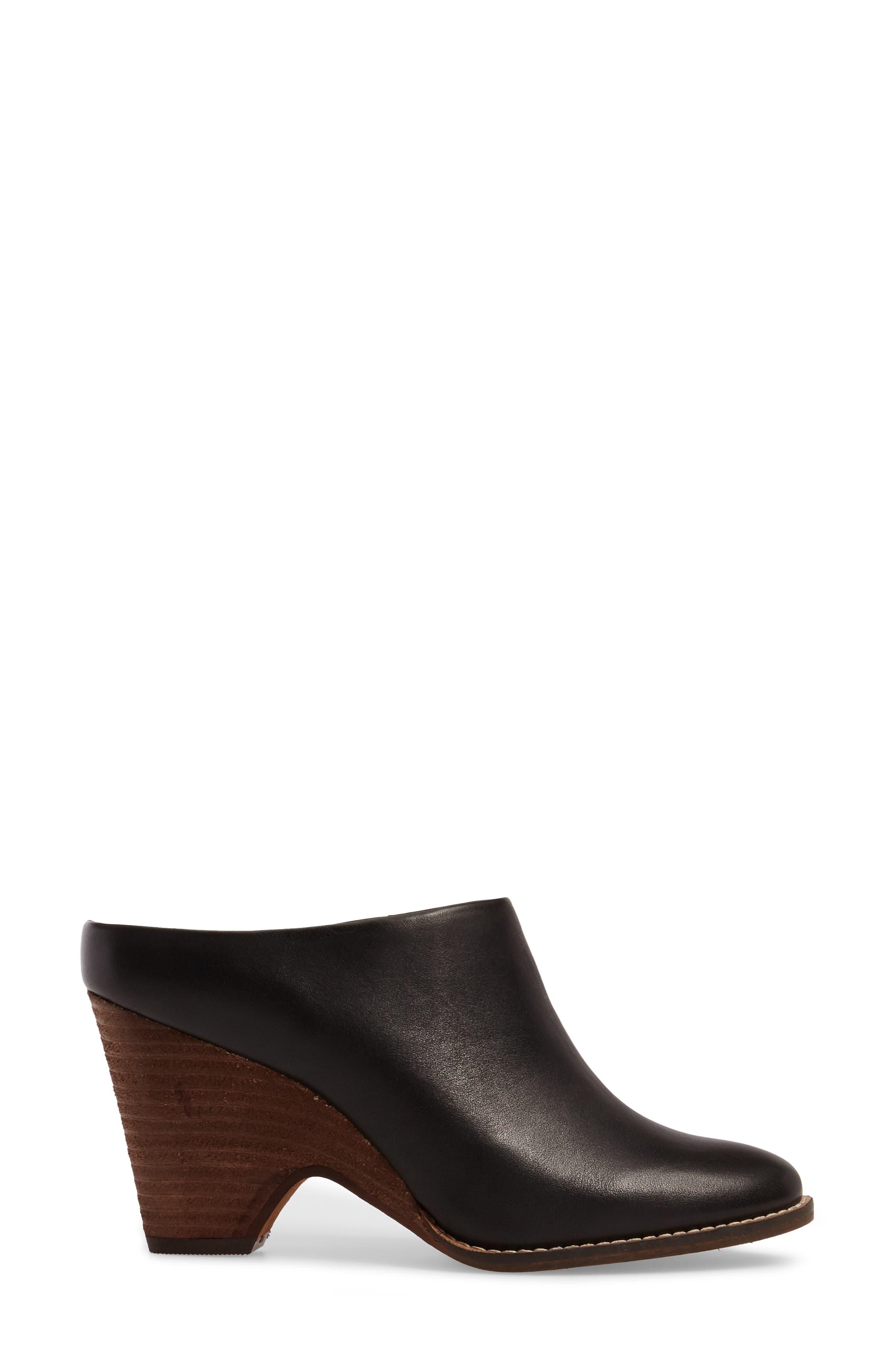 Hocking Mule,                             Alternate thumbnail 3, color,                             Black Leather