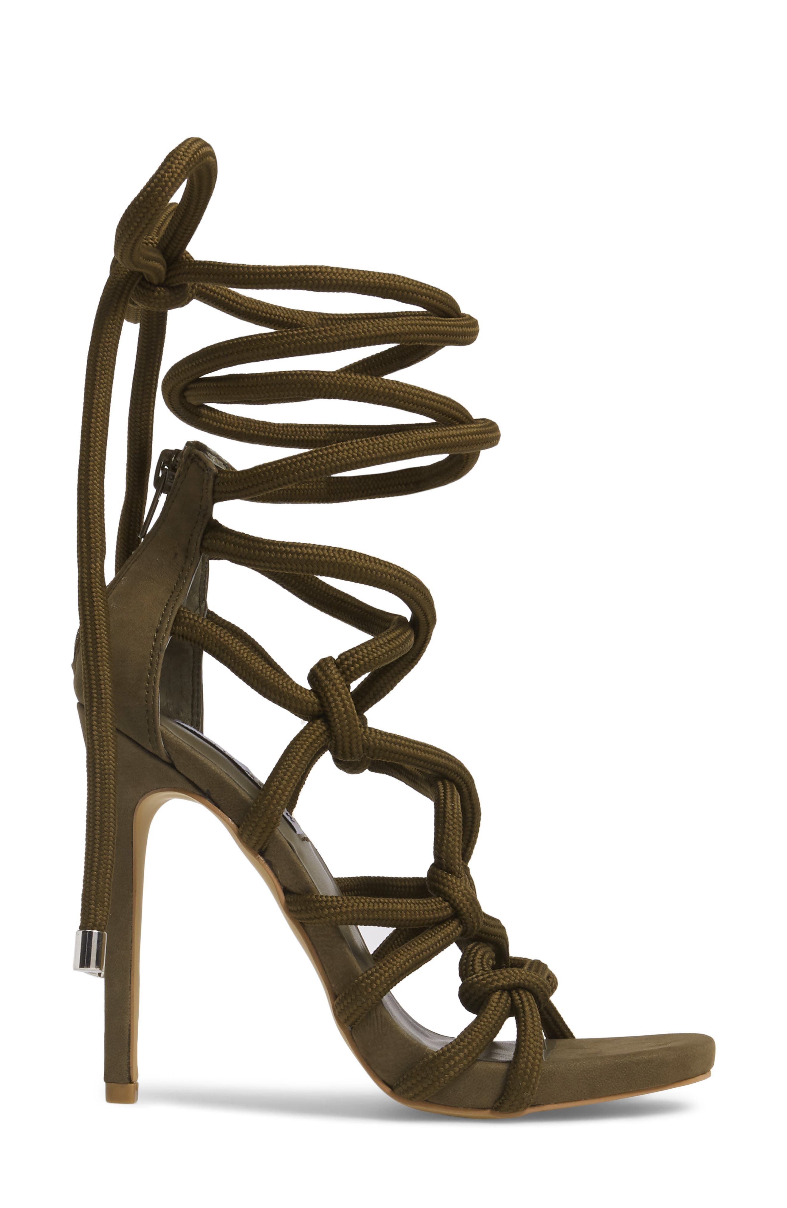 Dream Ankle Tie Sandal,                             Alternate thumbnail 3, color,                             Green Nubuck