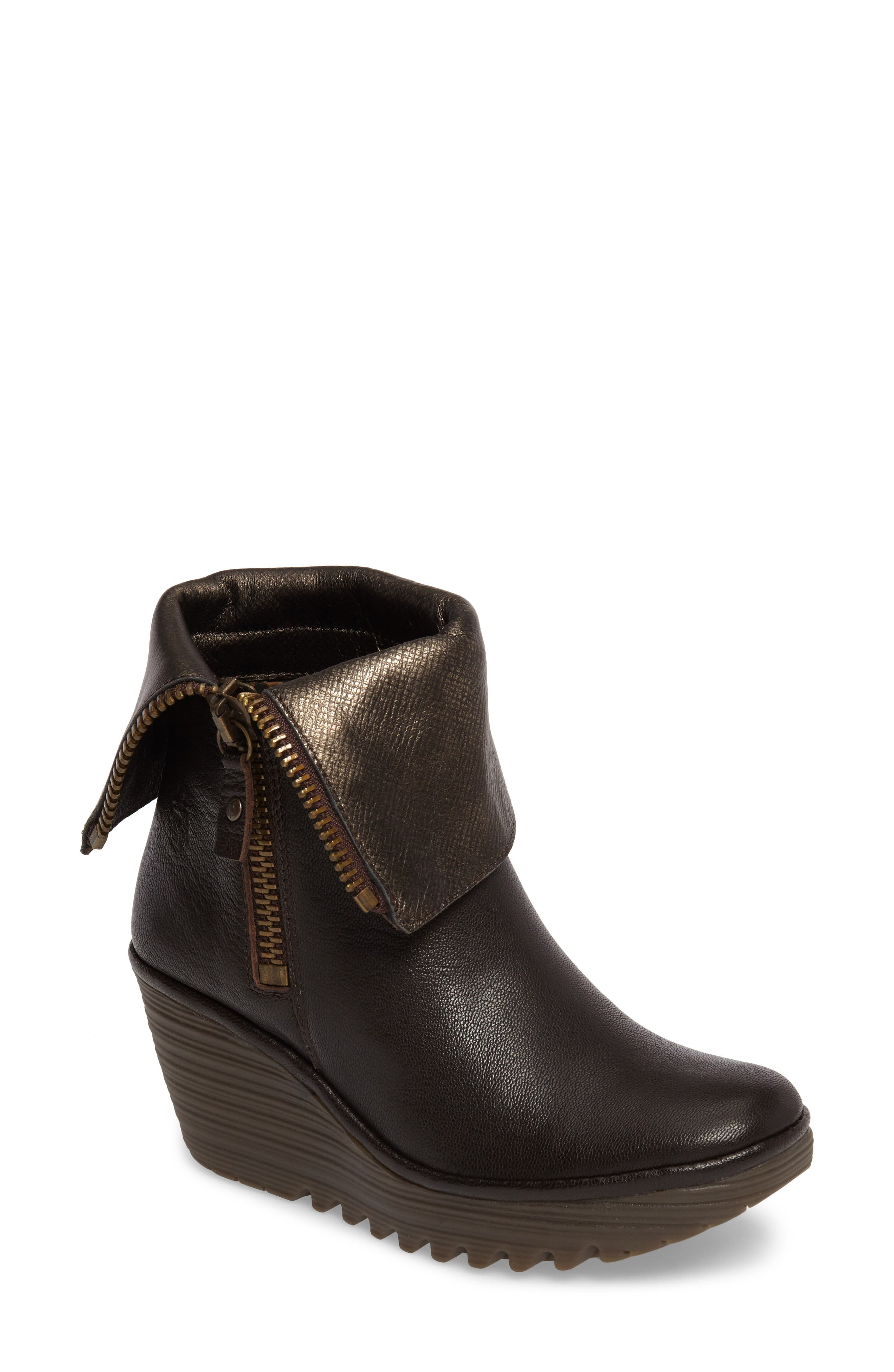Fly London 'Yex' Platform Wedge Bootie (Women)