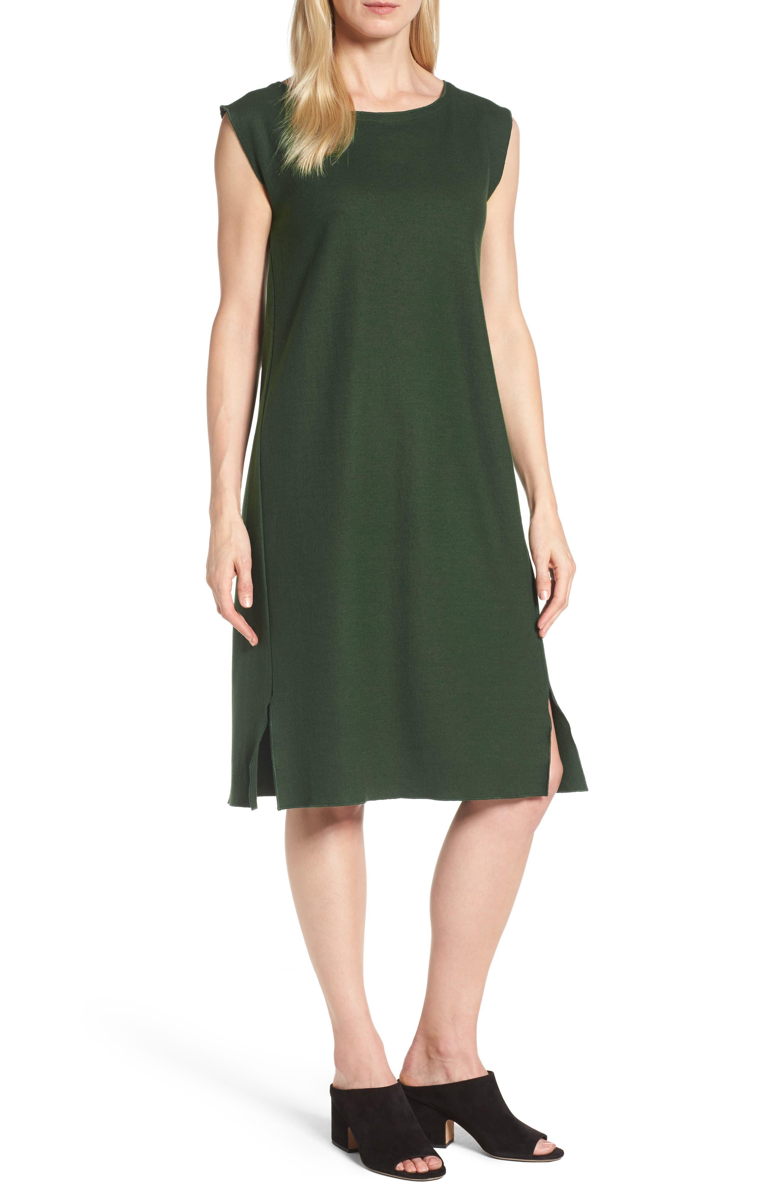 Main Image - Eileen Fisher Wool Jersey Shift Dress