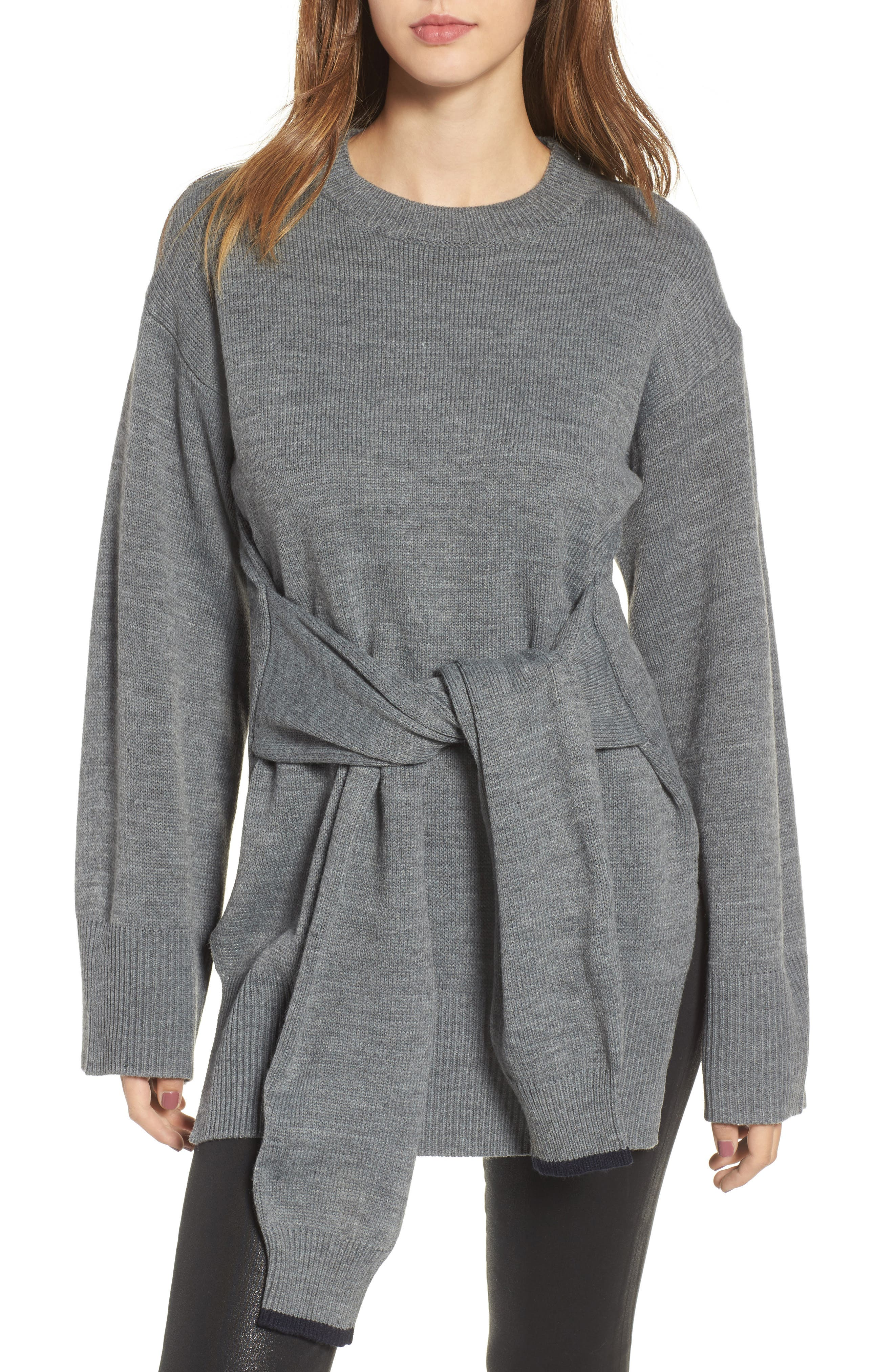 J.O.A. Tie Front Sweater