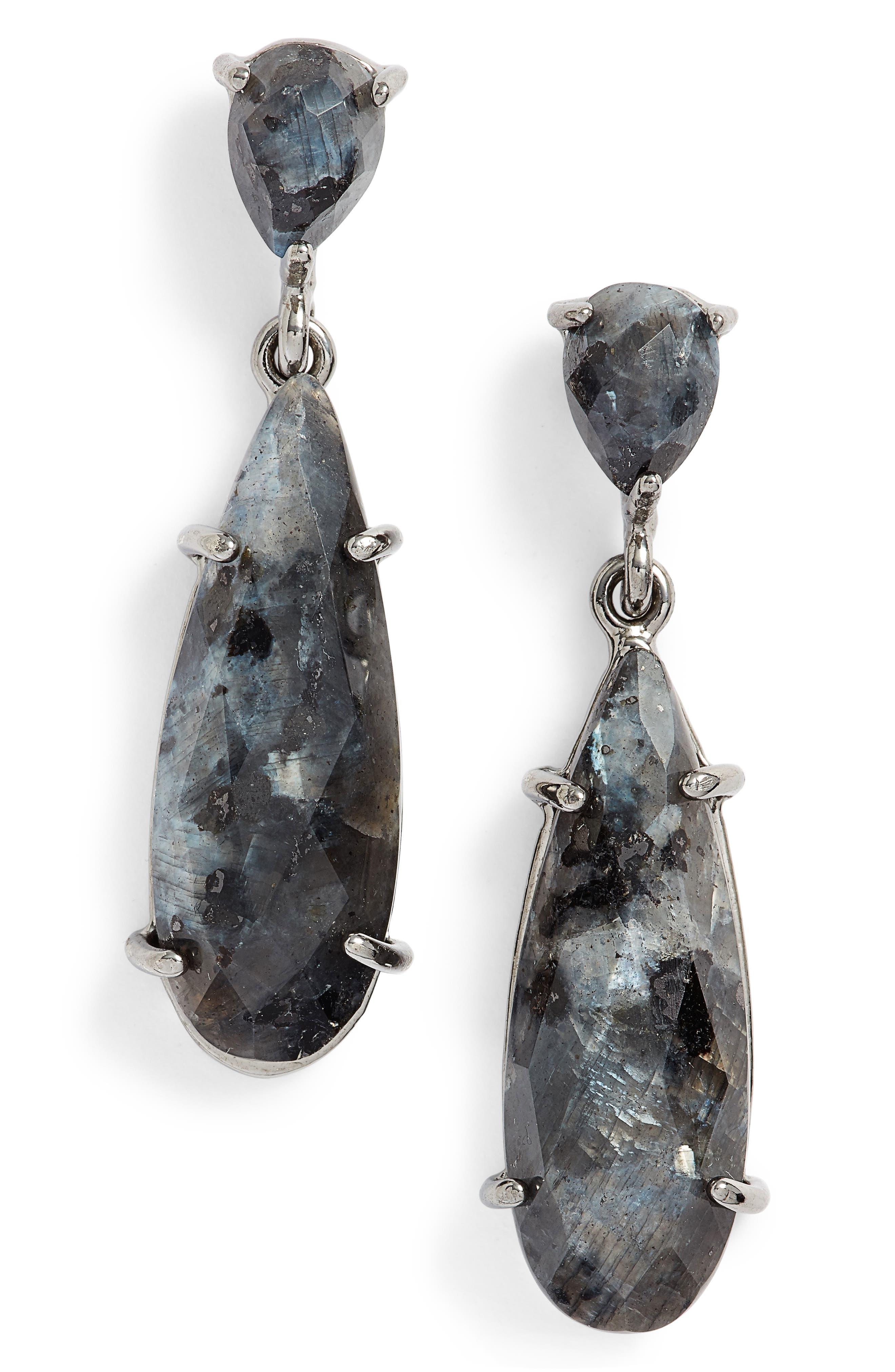 Nakamol Labradorite Drop Earrings,                         Main,                         color, Blue