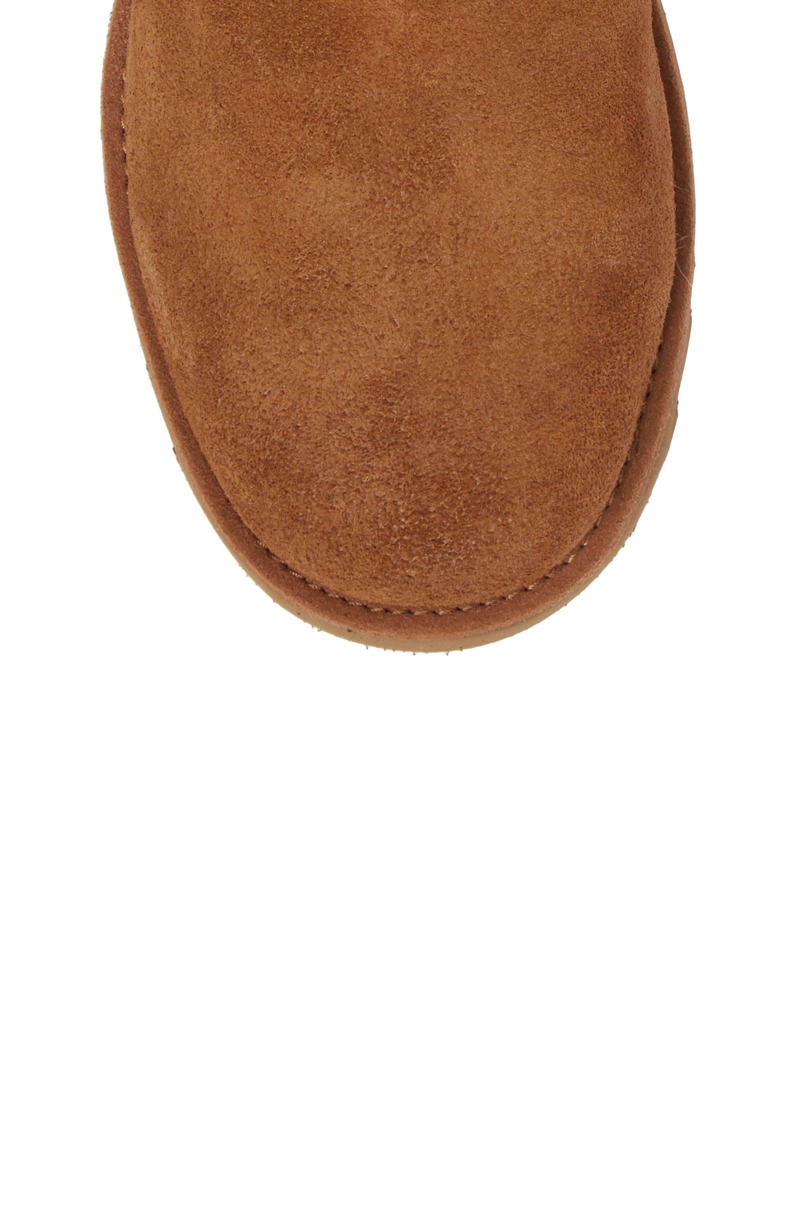Katalina II Water-Resistant Genuine Shearling Bootie,                             Alternate thumbnail 5, color,                             Chestnut