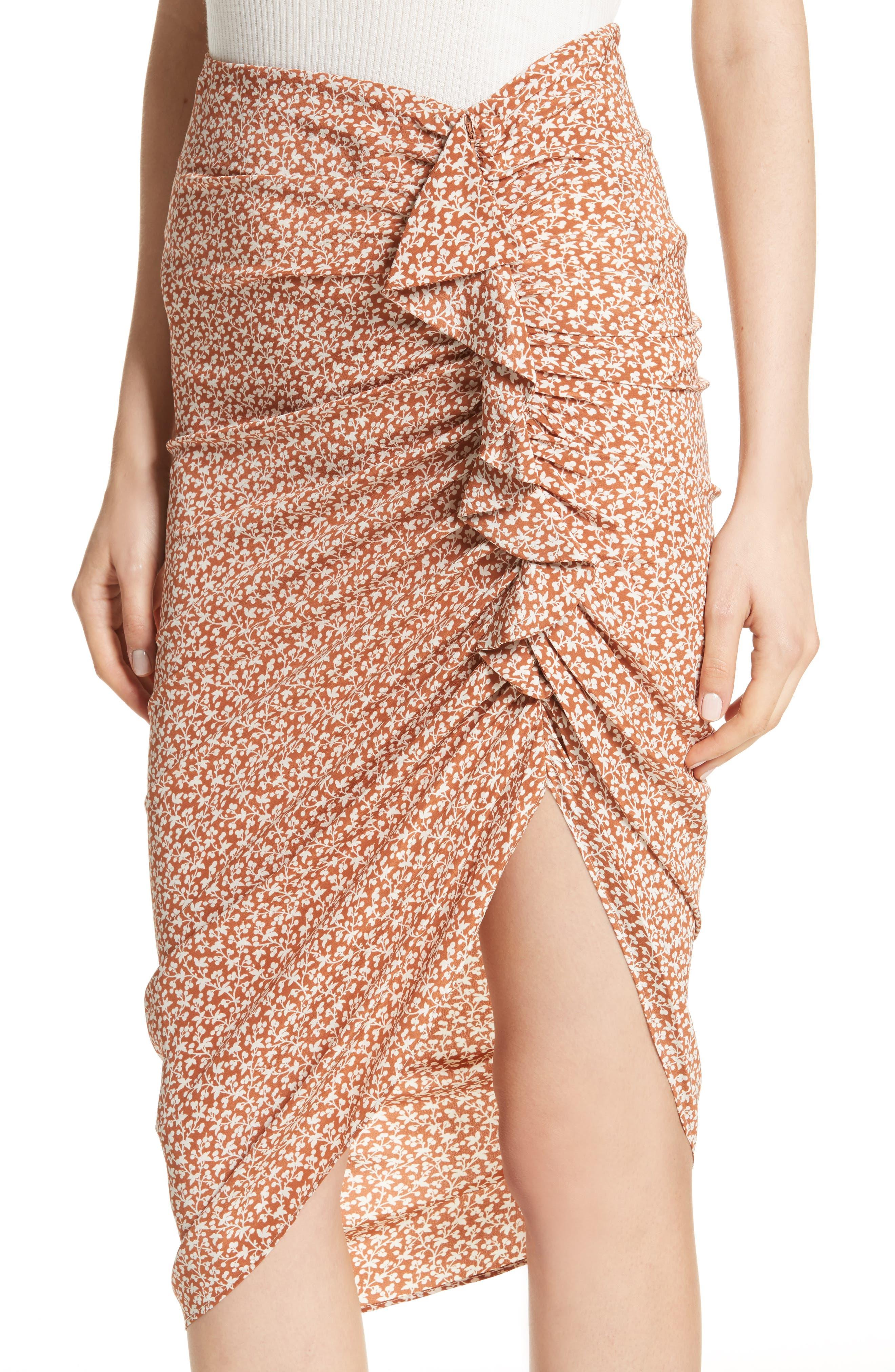 Alternate Image 4  - Veronica Beard Hazel Ruffle Ruched Silk Skirt