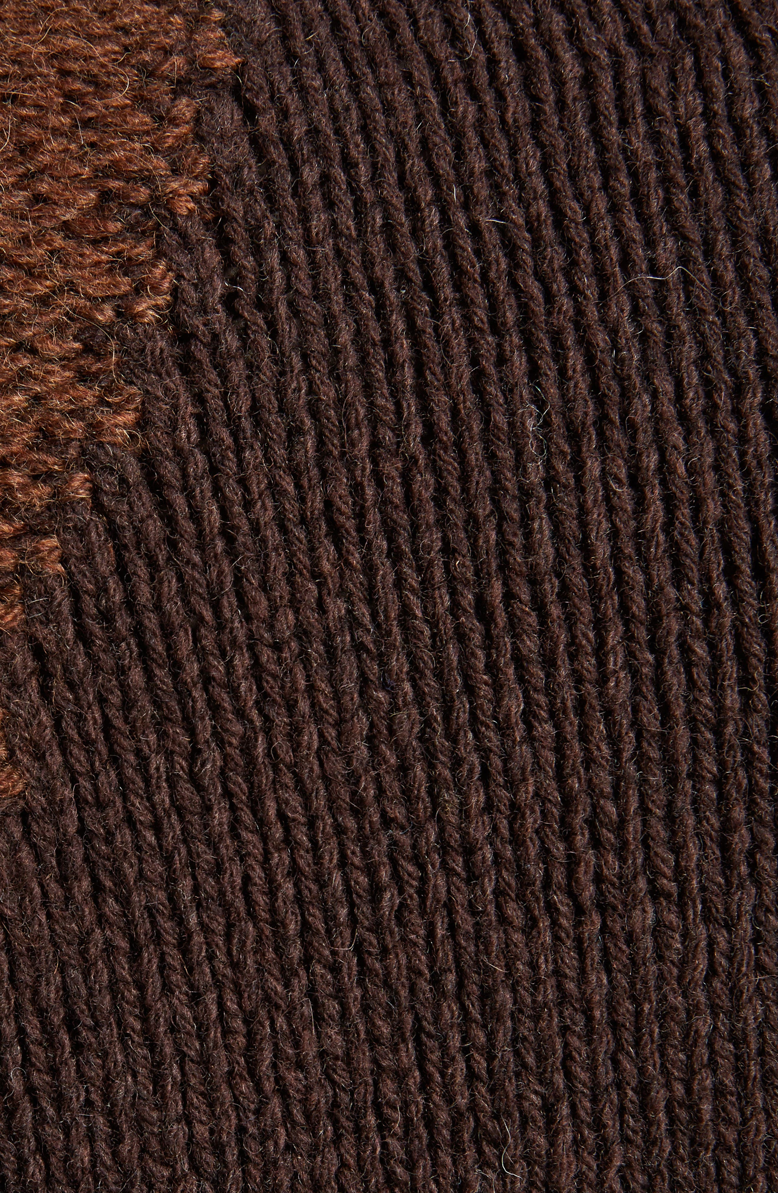 Ovira Distressed Patchwork Sweater,                             Alternate thumbnail 5, color,                             Brown Combo