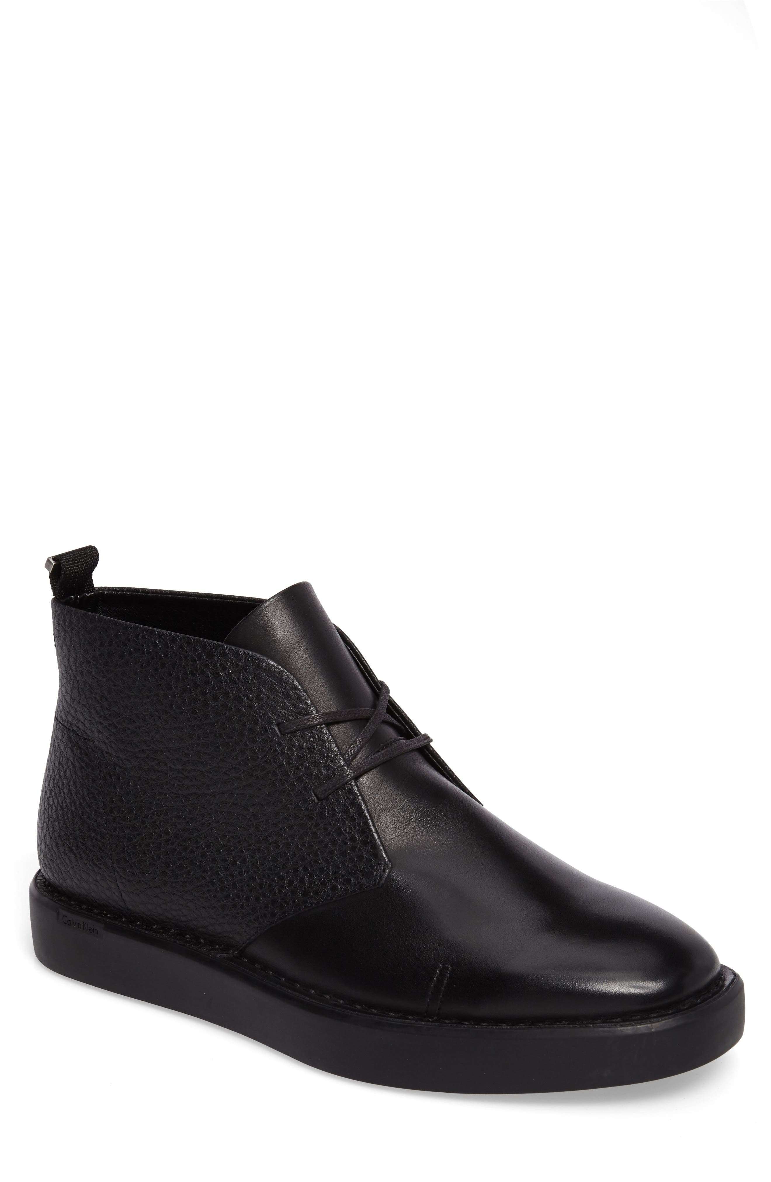 Galway Chukka Boot,                         Main,                         color, Black Suede