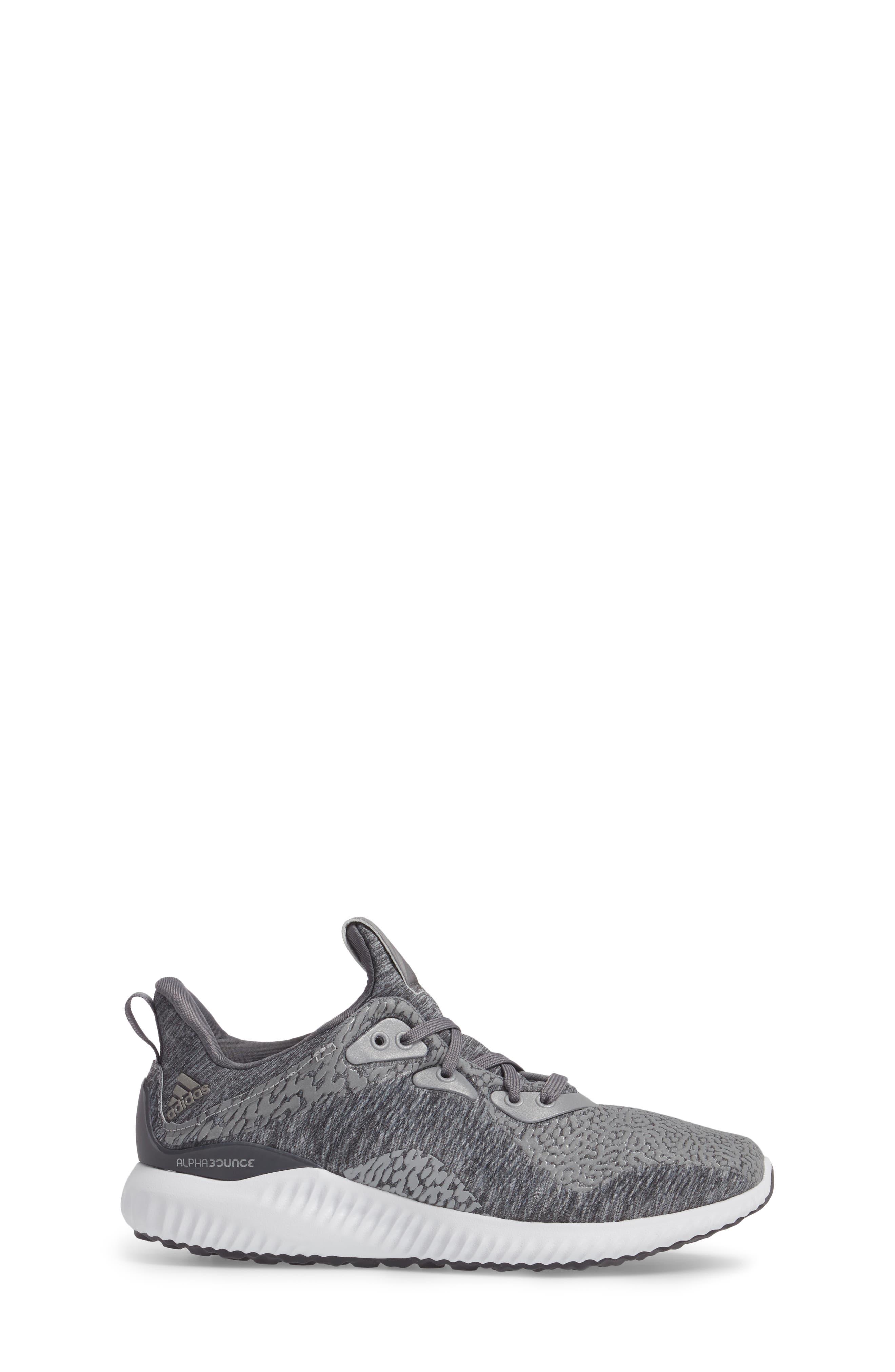 AlphaBounce Sneaker,                             Alternate thumbnail 3, color,                             Medium Grey Heather
