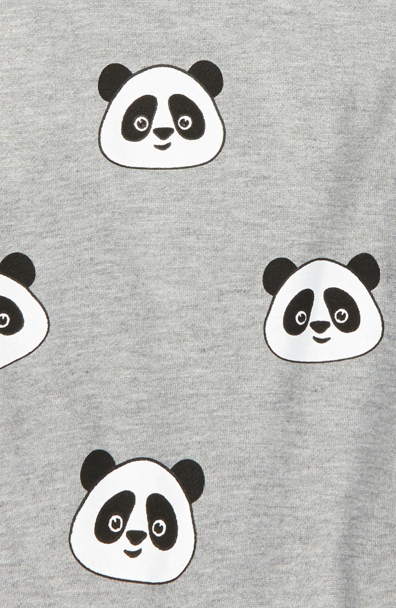 All Over Panda Sweatshirt,                             Alternate thumbnail 2, color,                             Panda Grey