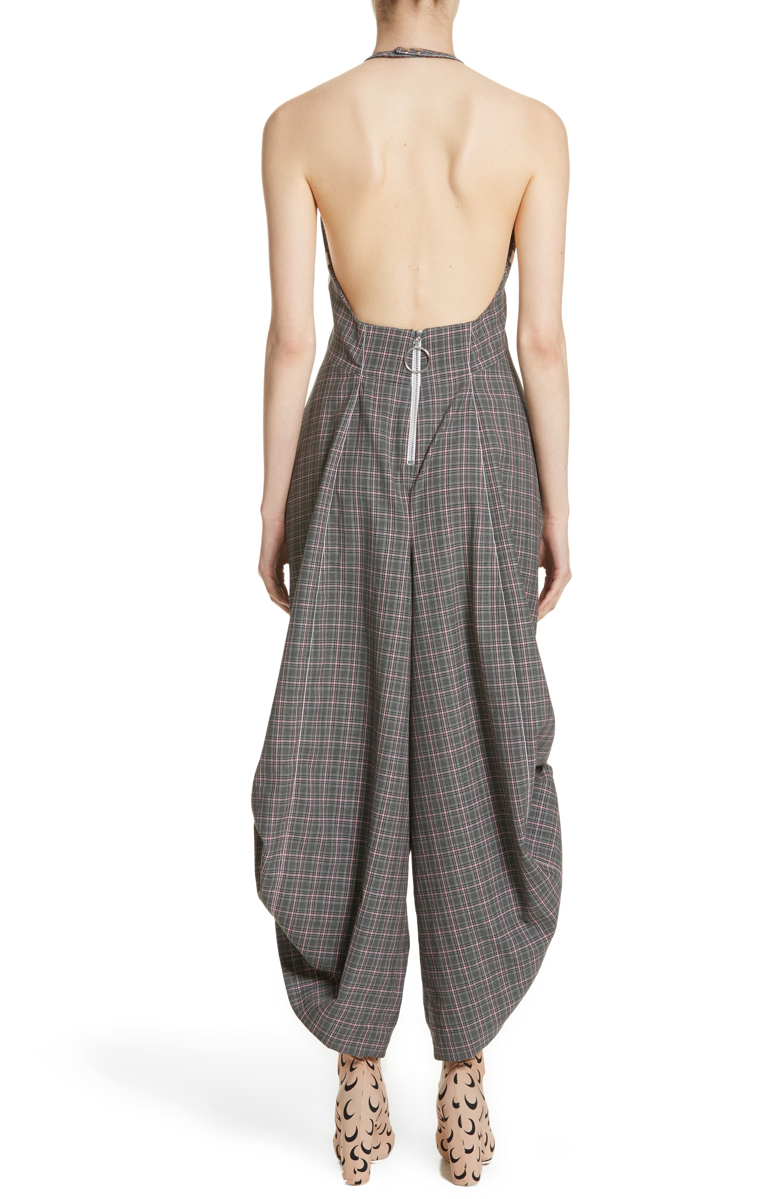 Wool Jumpsuit,                             Alternate thumbnail 2, color,                             Grey Pink
