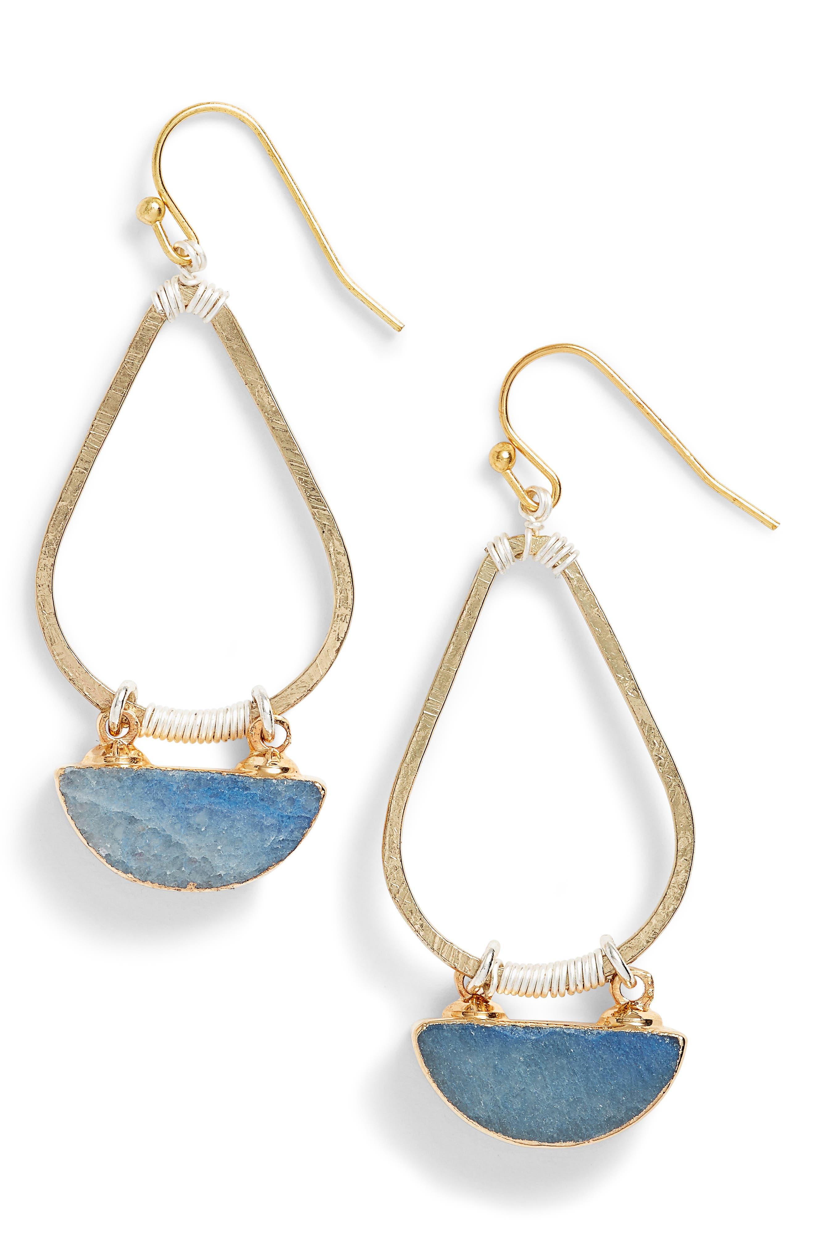 Nakamol Design Bahar Lapis Teardrop Earrings