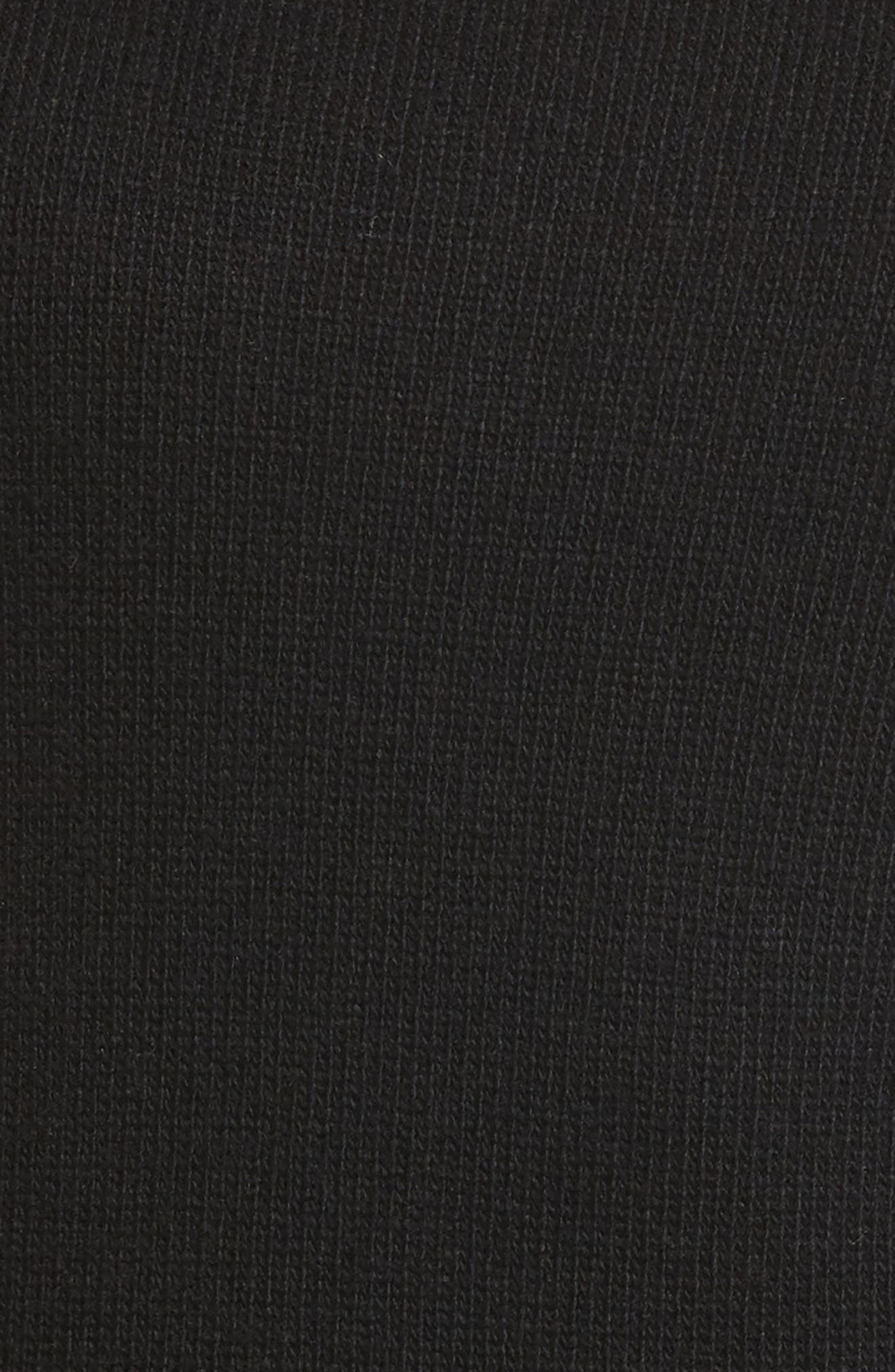 Cold Shoulder Sweater Dress,                             Alternate thumbnail 5, color,                             Black