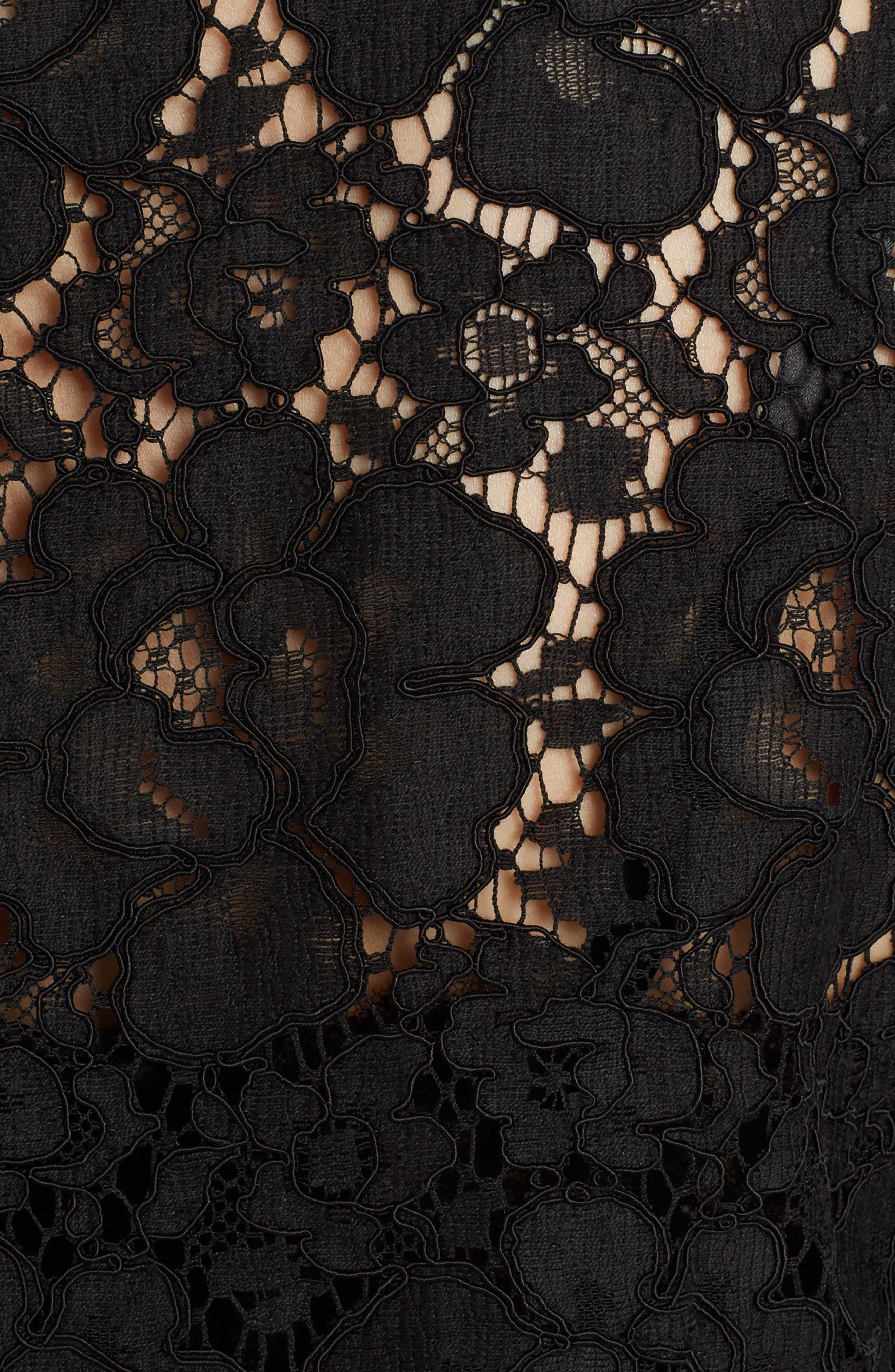 Heart Patch Lace Top,                             Alternate thumbnail 5, color,                             Black