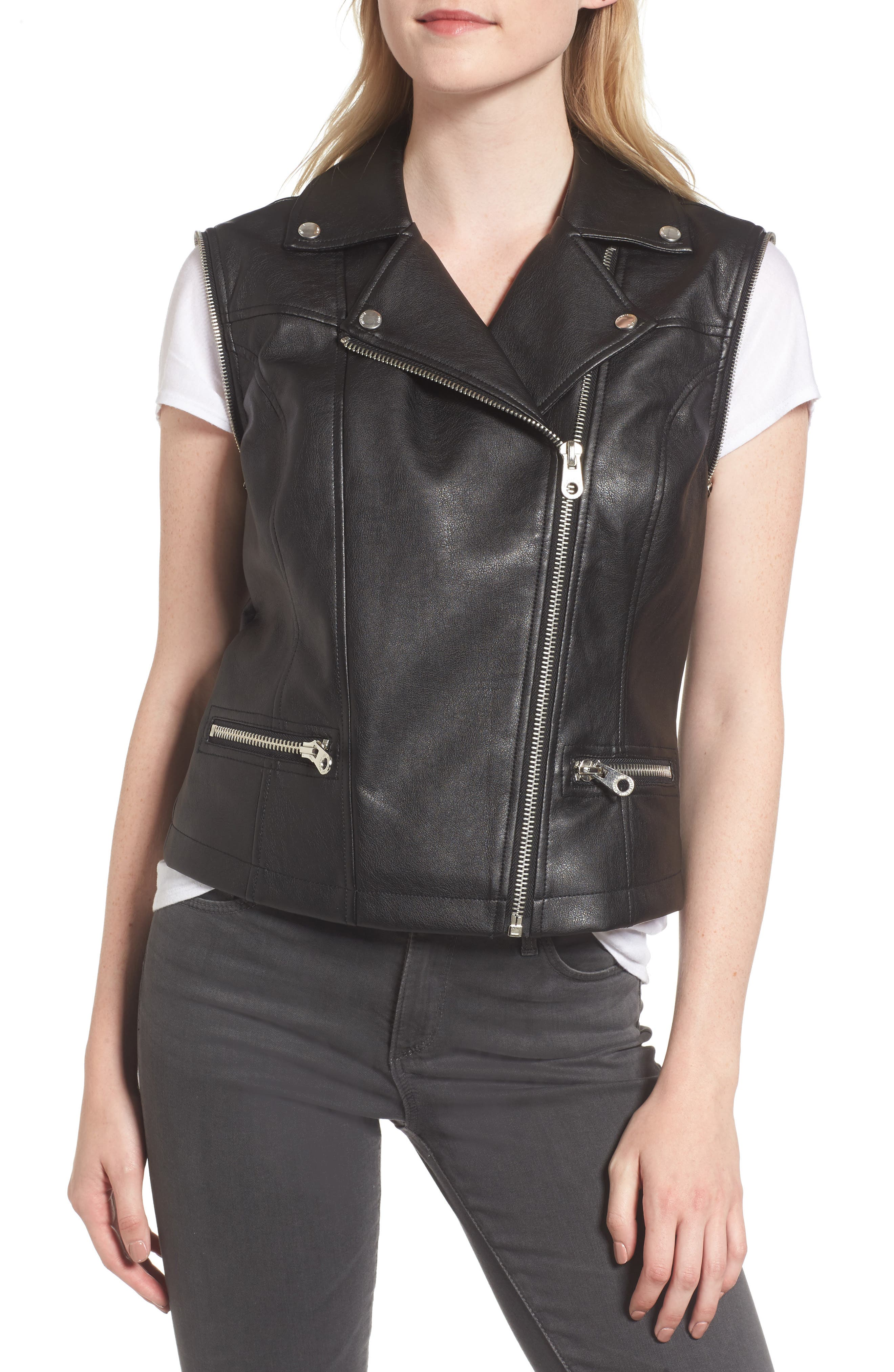 Alternate Image 4  - Members Only Faux Leather Biker Jacket
