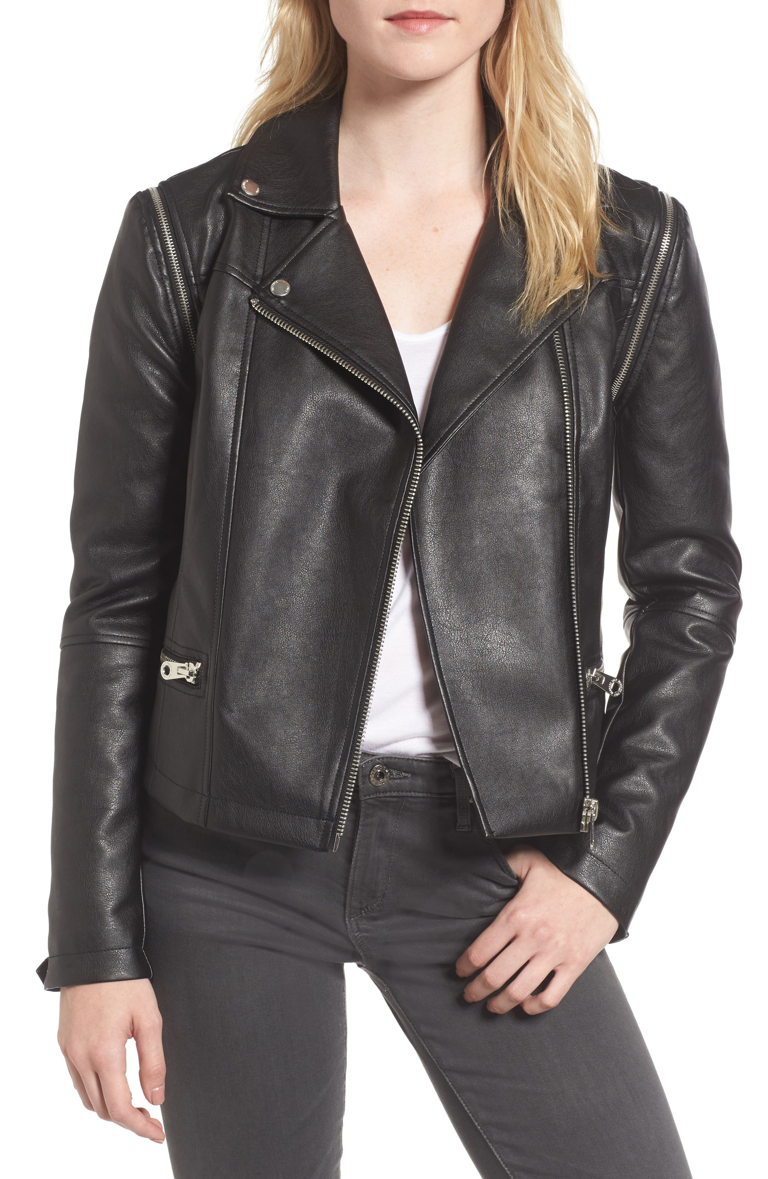 Alternate Image 1 Selected - Members Only Faux Leather Biker Jacket