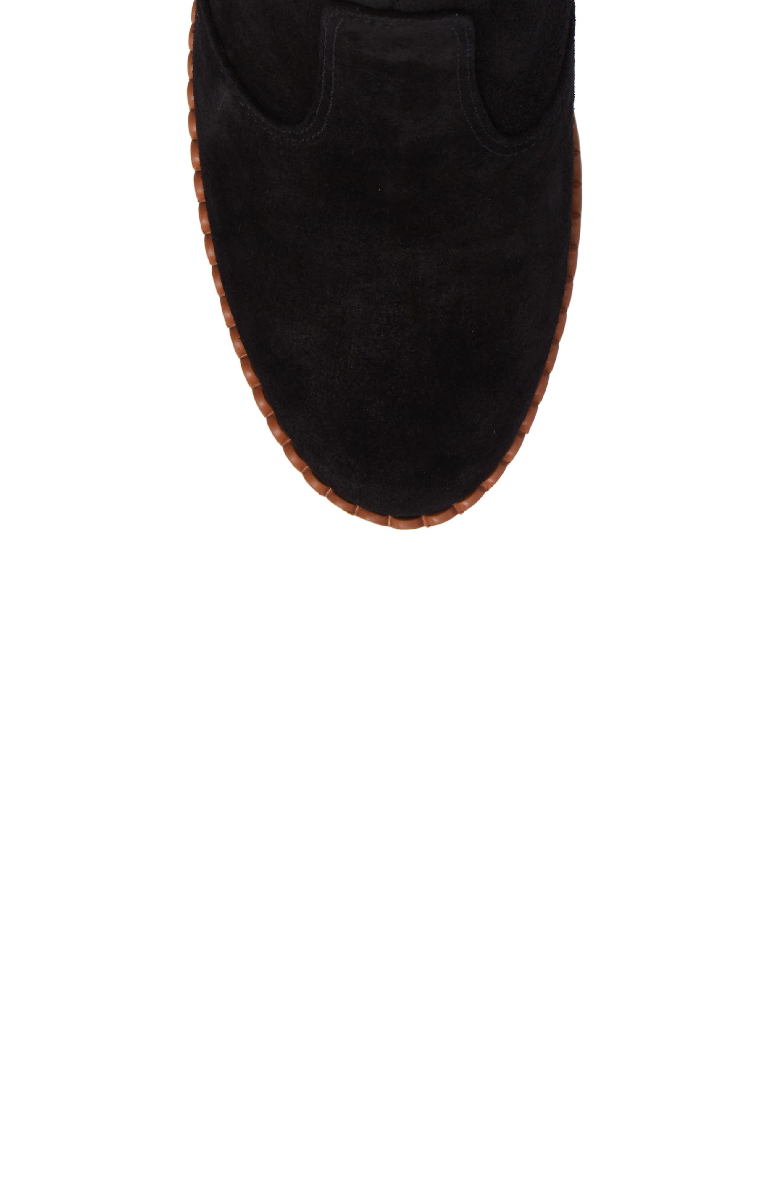 Stasya Block Heel Bootie,                             Alternate thumbnail 5, color,                             Black