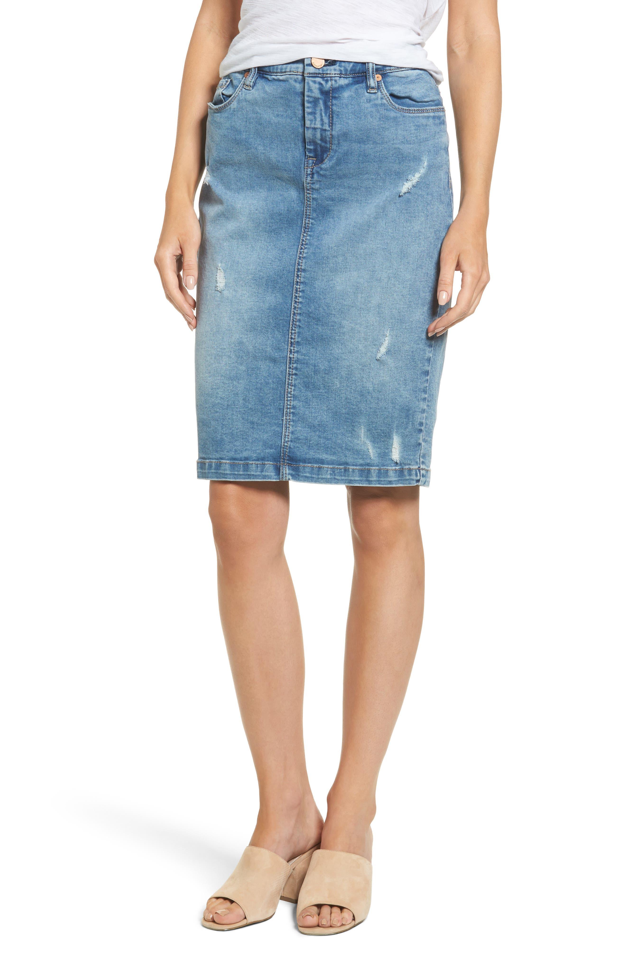 BLANKNYC Block Party Jean Skirt