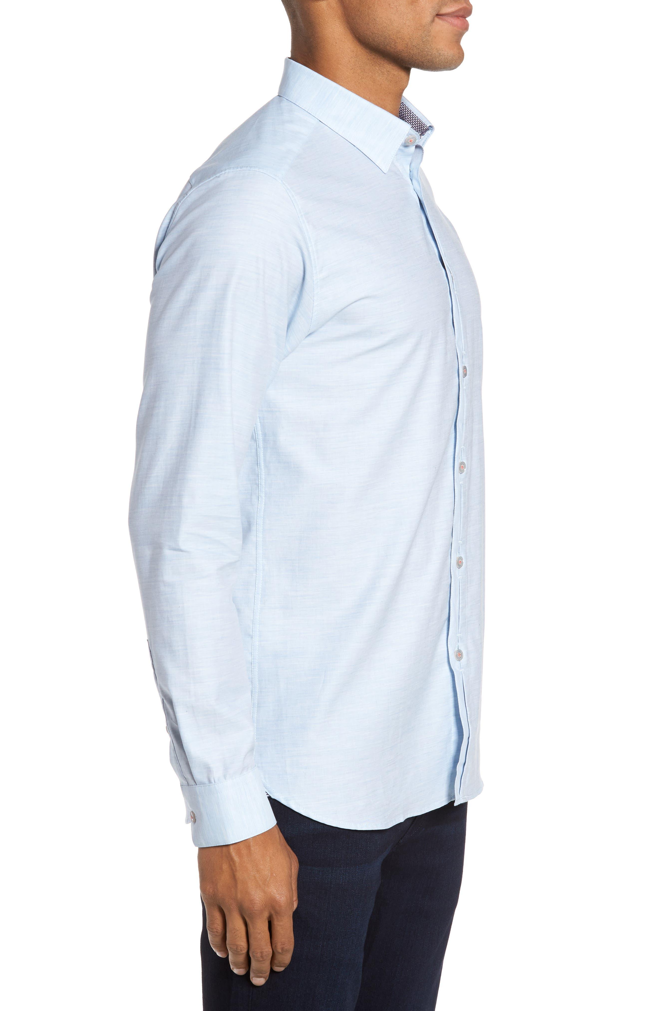 Alternate Image 3  - Ted Baker London Annisley Modern Slim Fit Sport Shirt