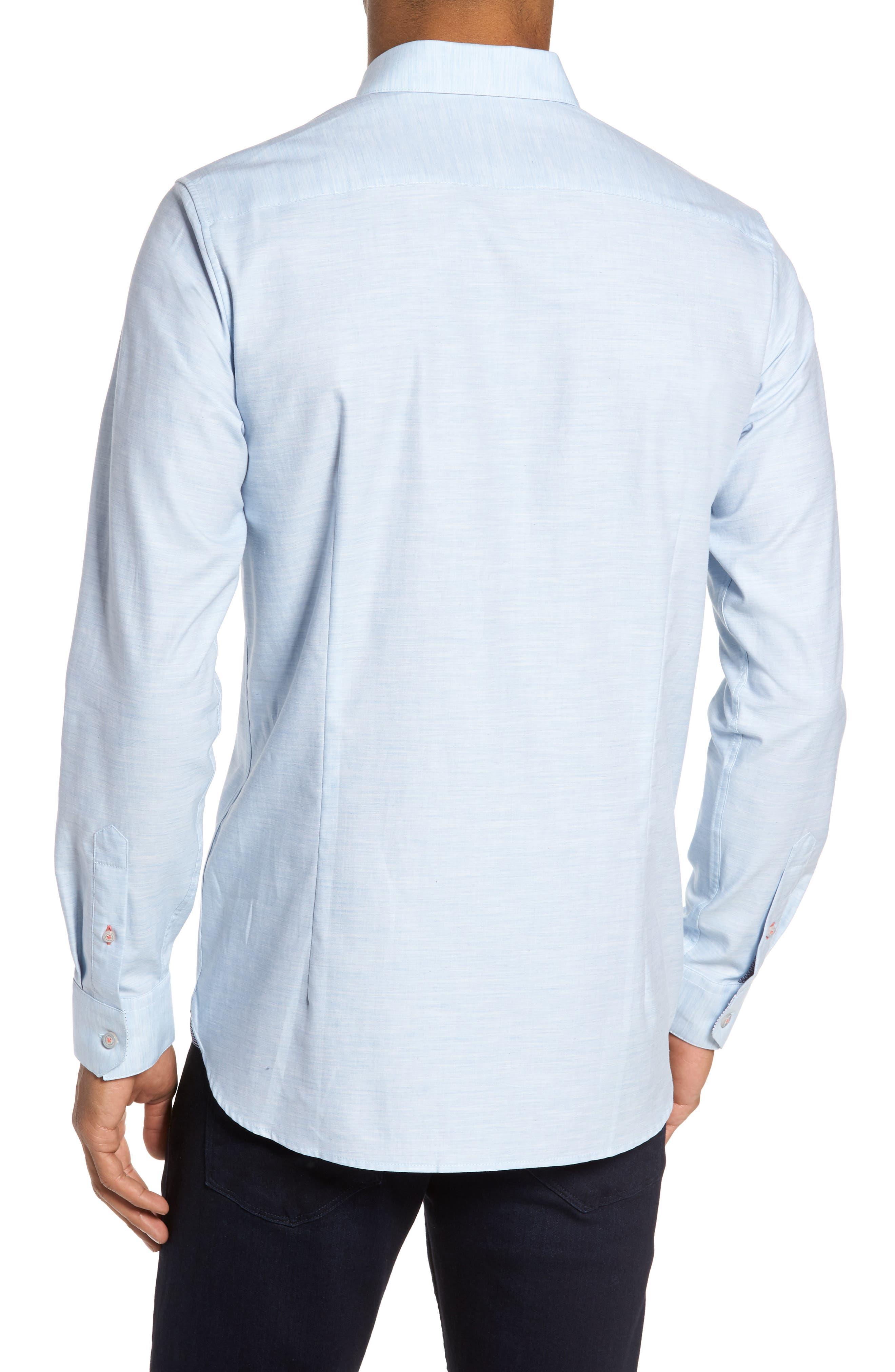Alternate Image 2  - Ted Baker London Annisley Modern Slim Fit Sport Shirt