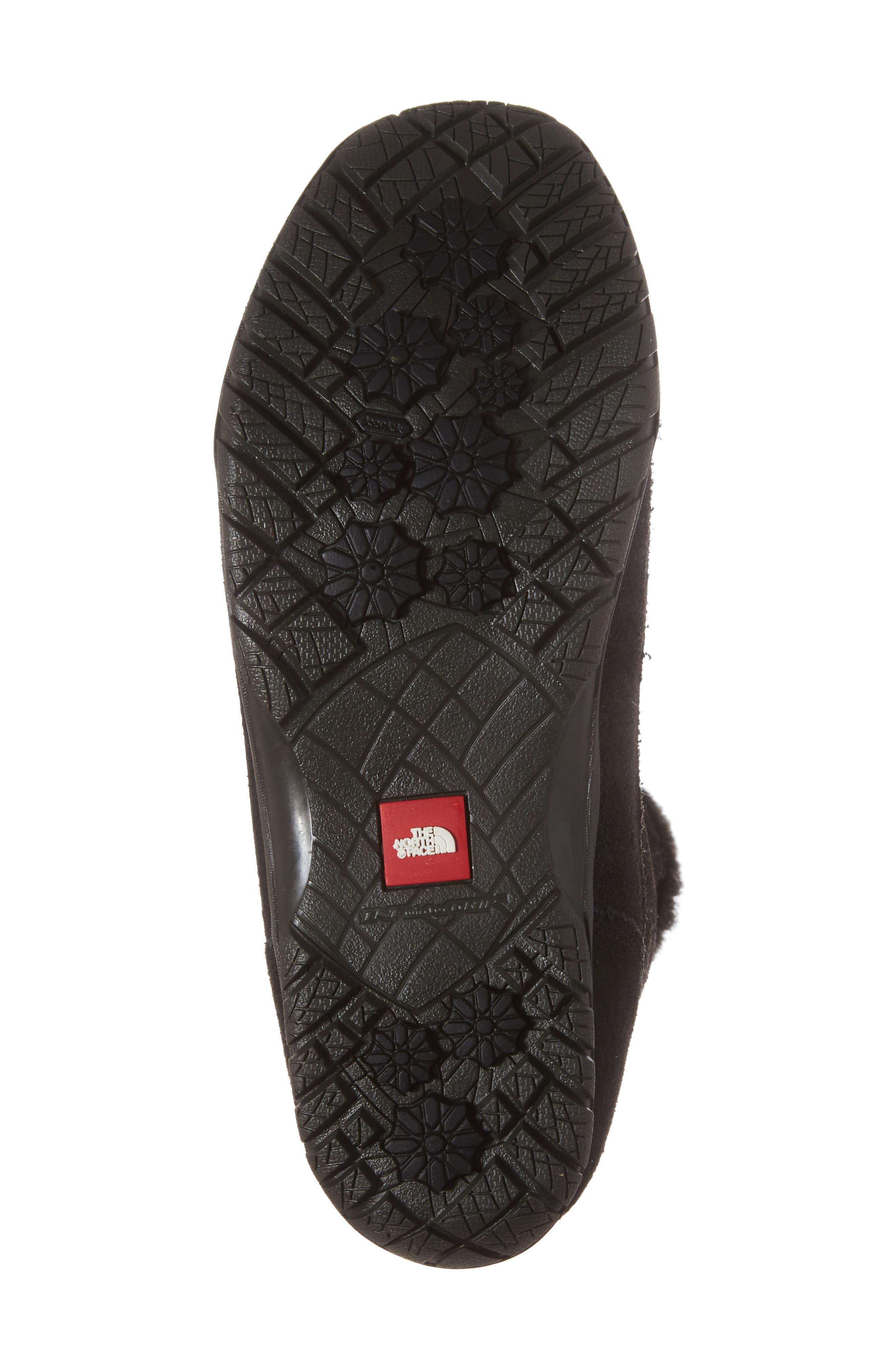 Nuptse Purna II Waterproof PrimaLoft<sup>®</sup> Silver Eco Insulated Winter Boot,                             Alternate thumbnail 6, color,                             Tnf Black/ Beluga Grey