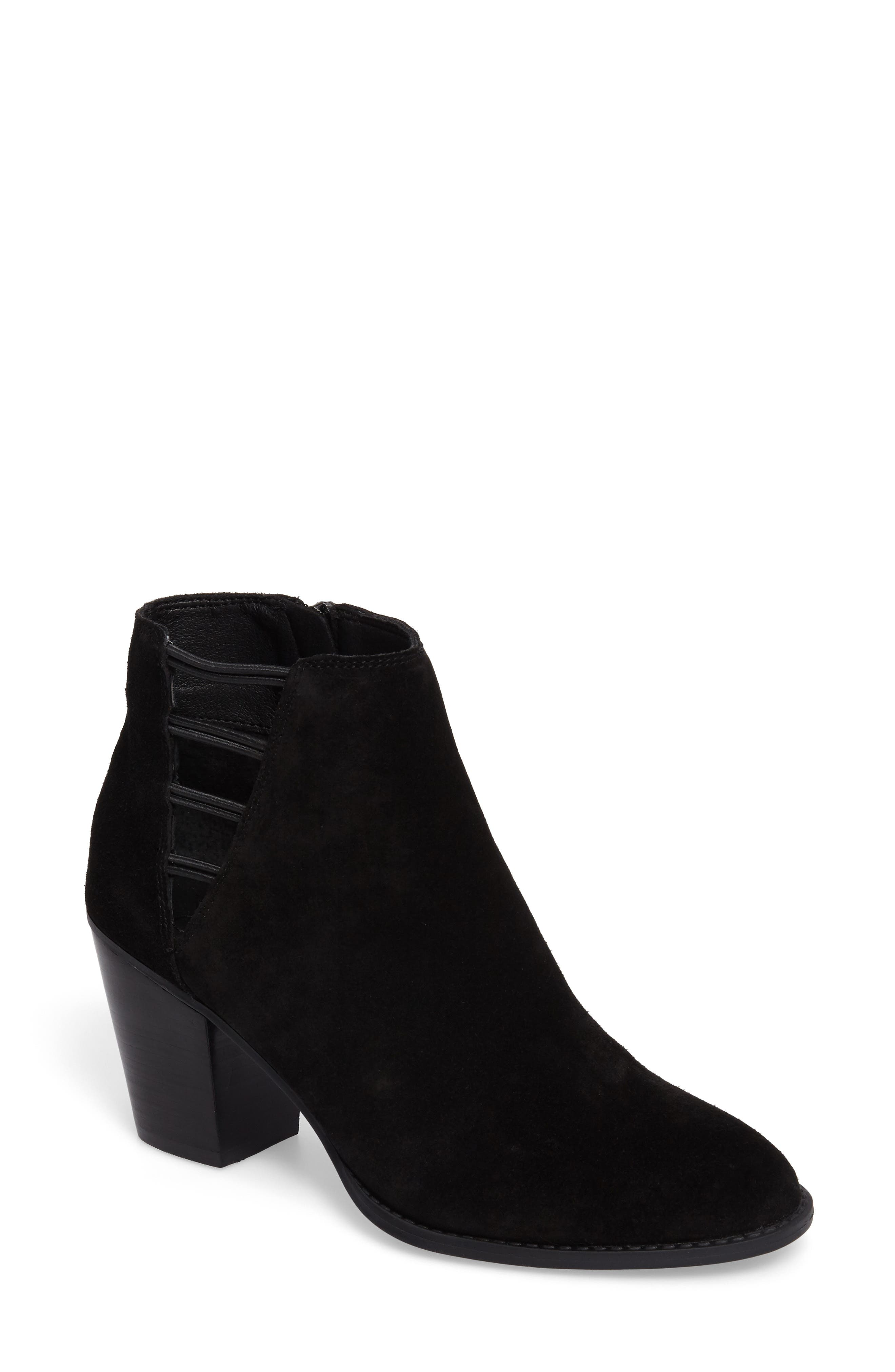 Yasma Bootie,                         Main,                         color, Black Suede