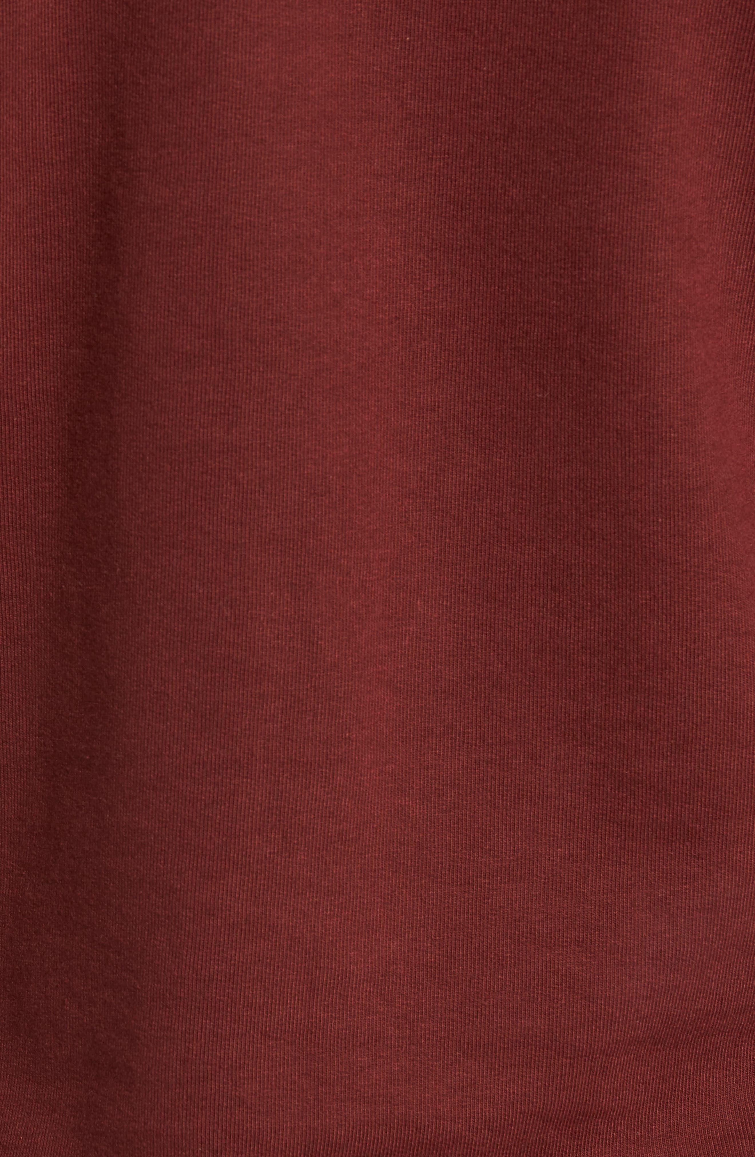 B-Side Reversible Crewneck Sweatshirt,                             Alternate thumbnail 4, color,                             Maroon