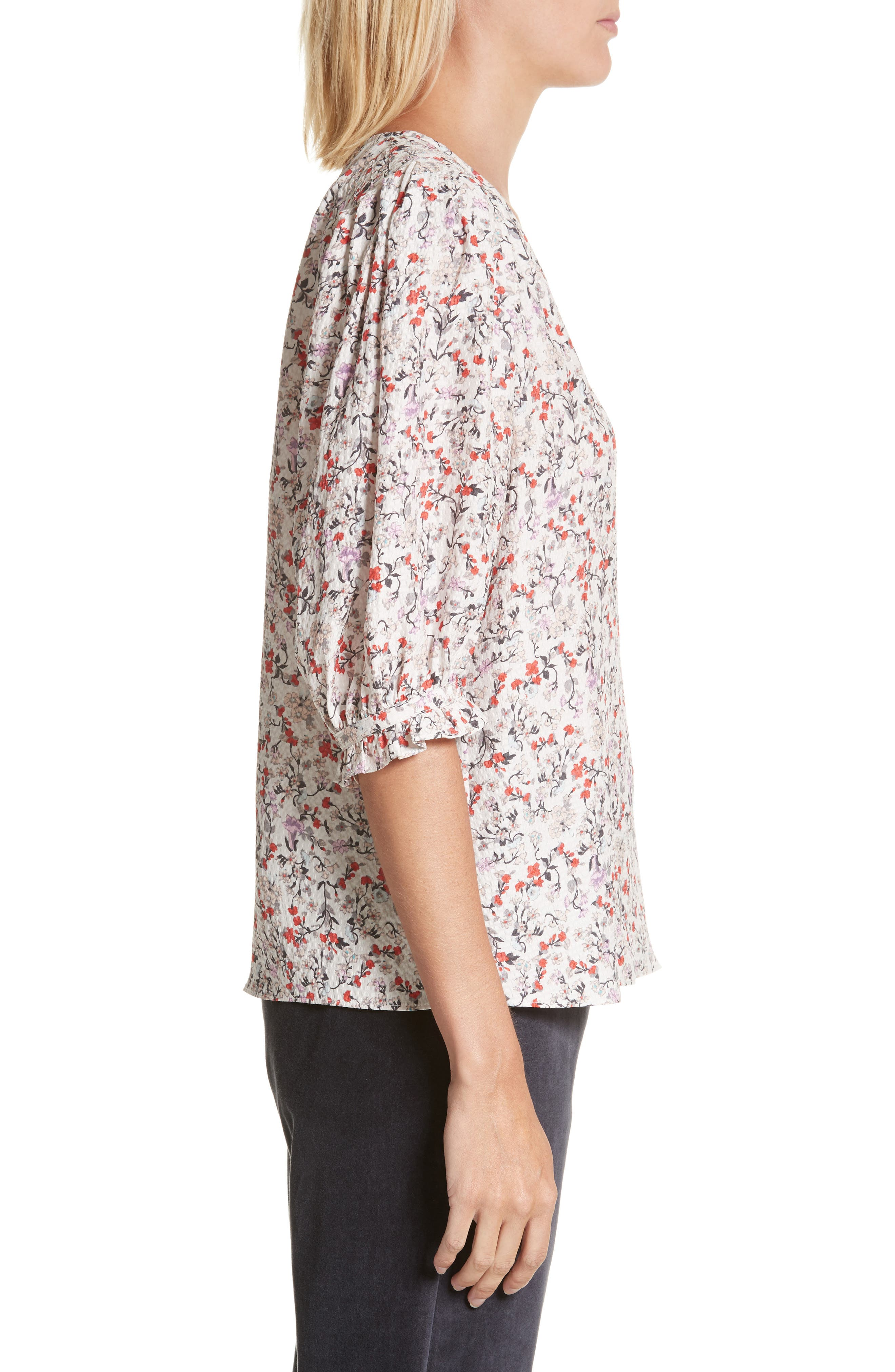 Alternate Image 3  - Rebecca Taylor Lyra Floral Silk Top