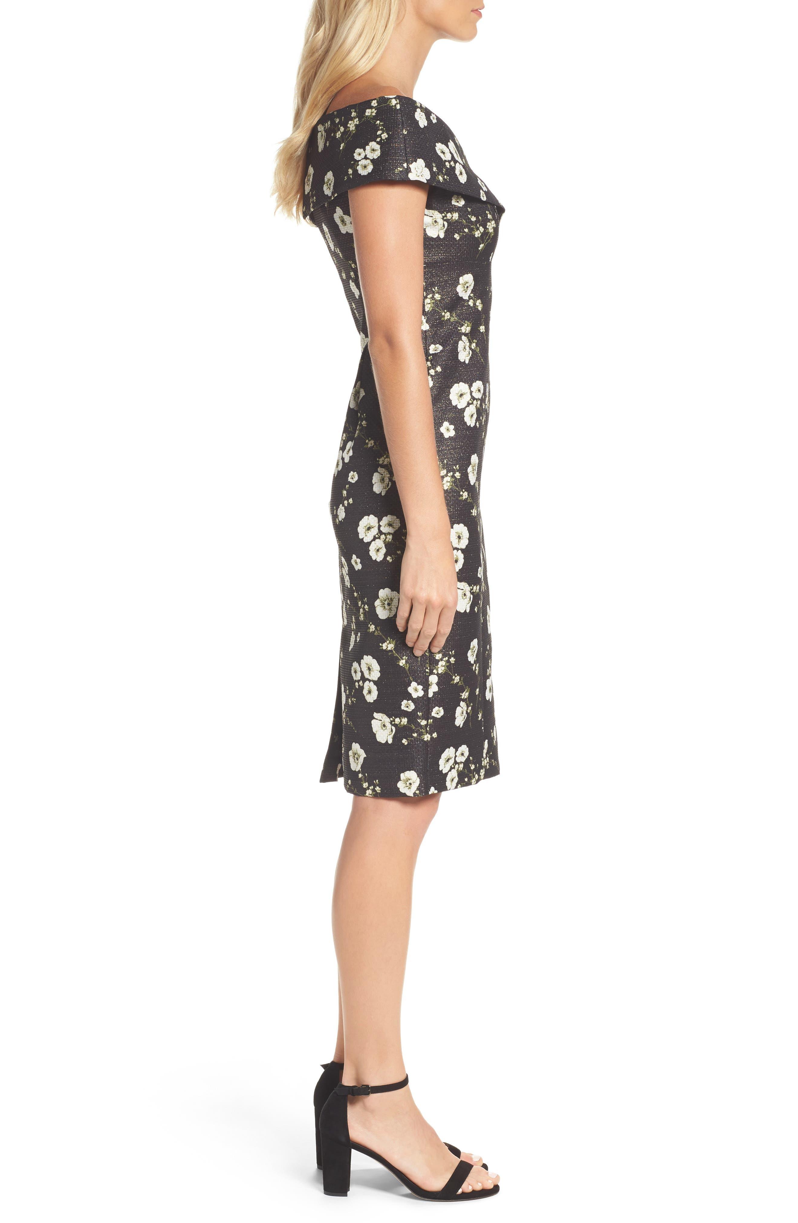 Alternate Image 3  - Adrianna Papell Metallic Off the Shoulder Sheath Dress
