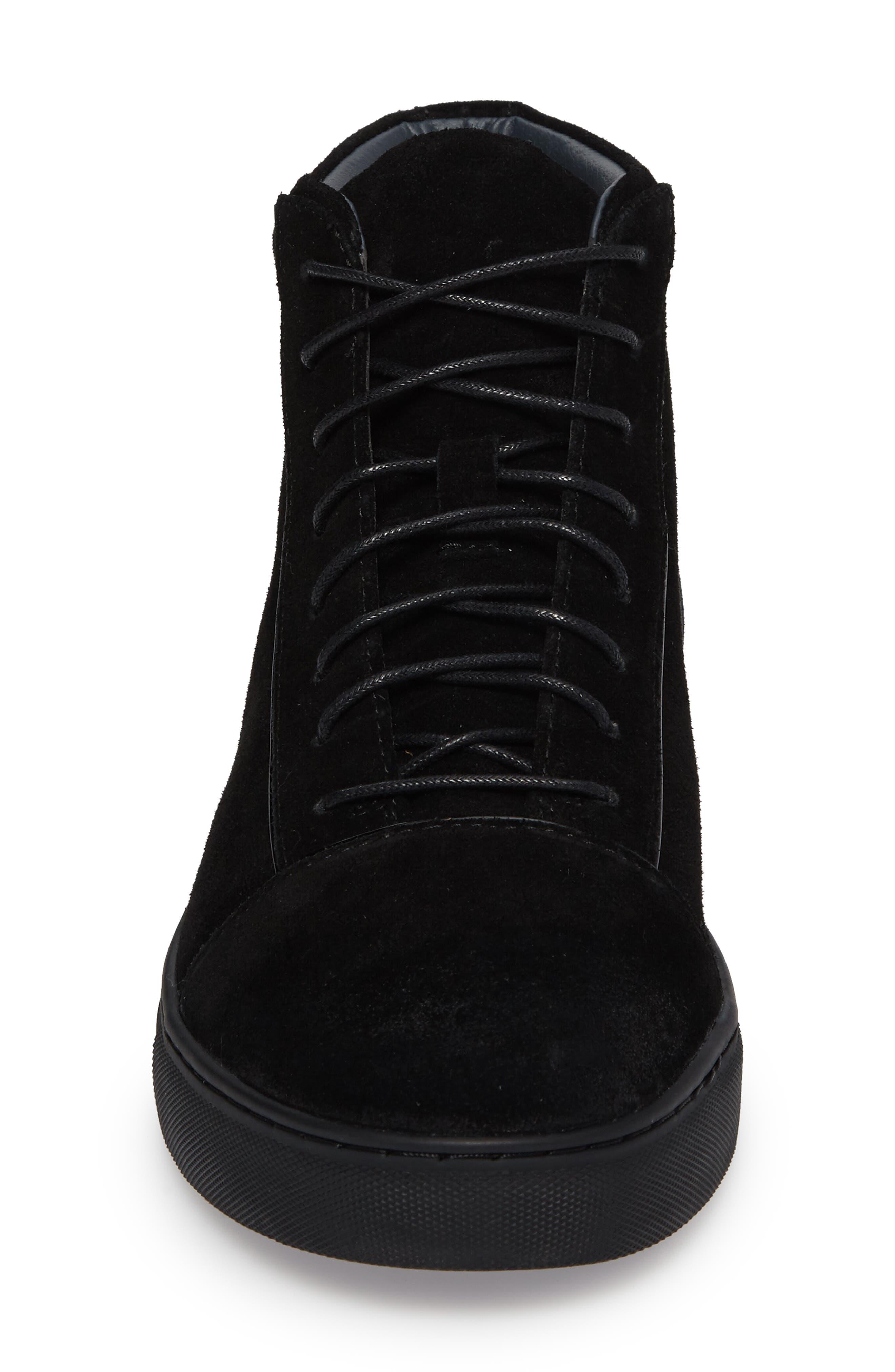 Grundy Sneaker,                             Alternate thumbnail 4, color,                             Black Suede