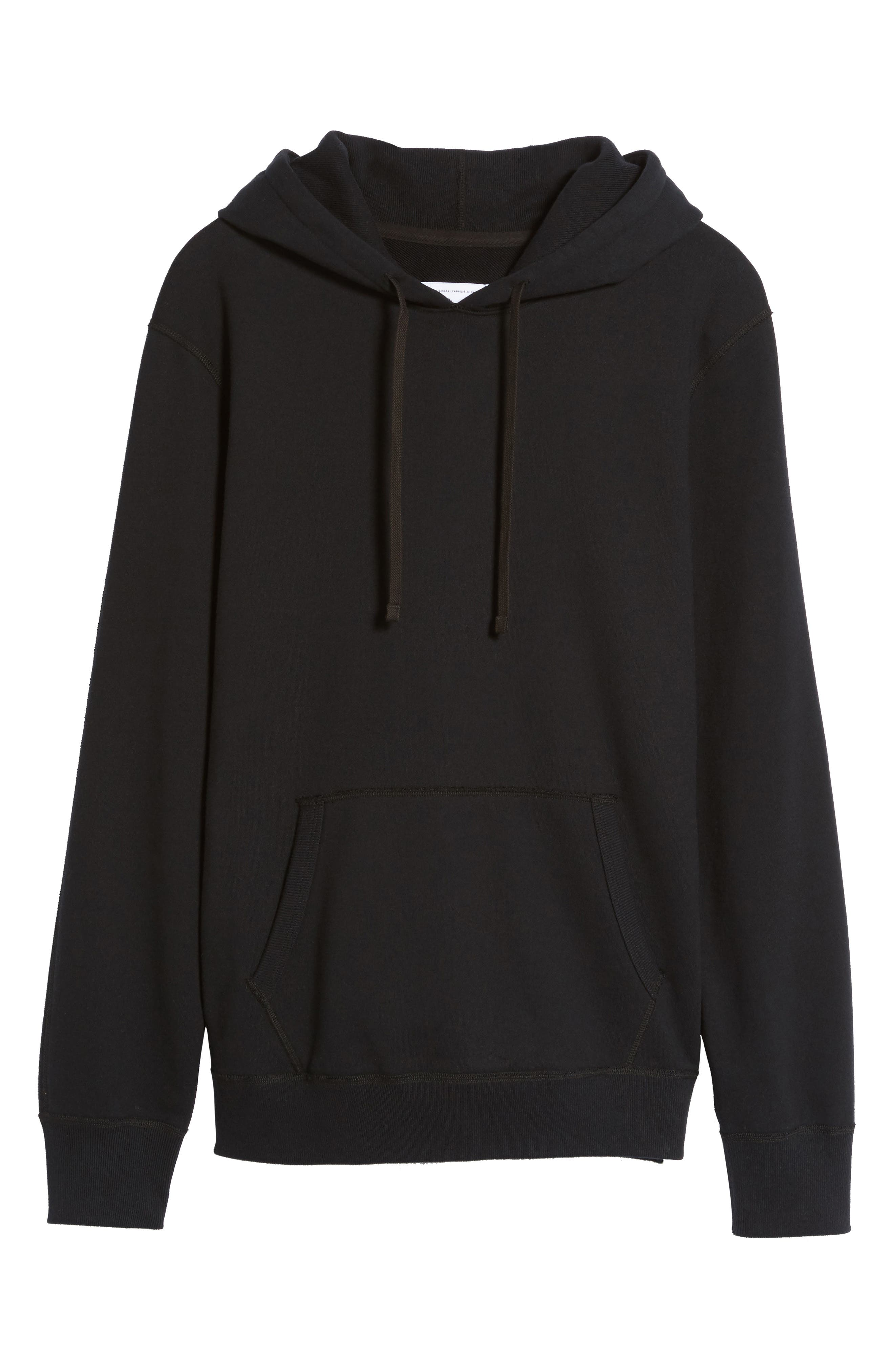 French Terry Hoodie,                             Alternate thumbnail 5, color,                             Black