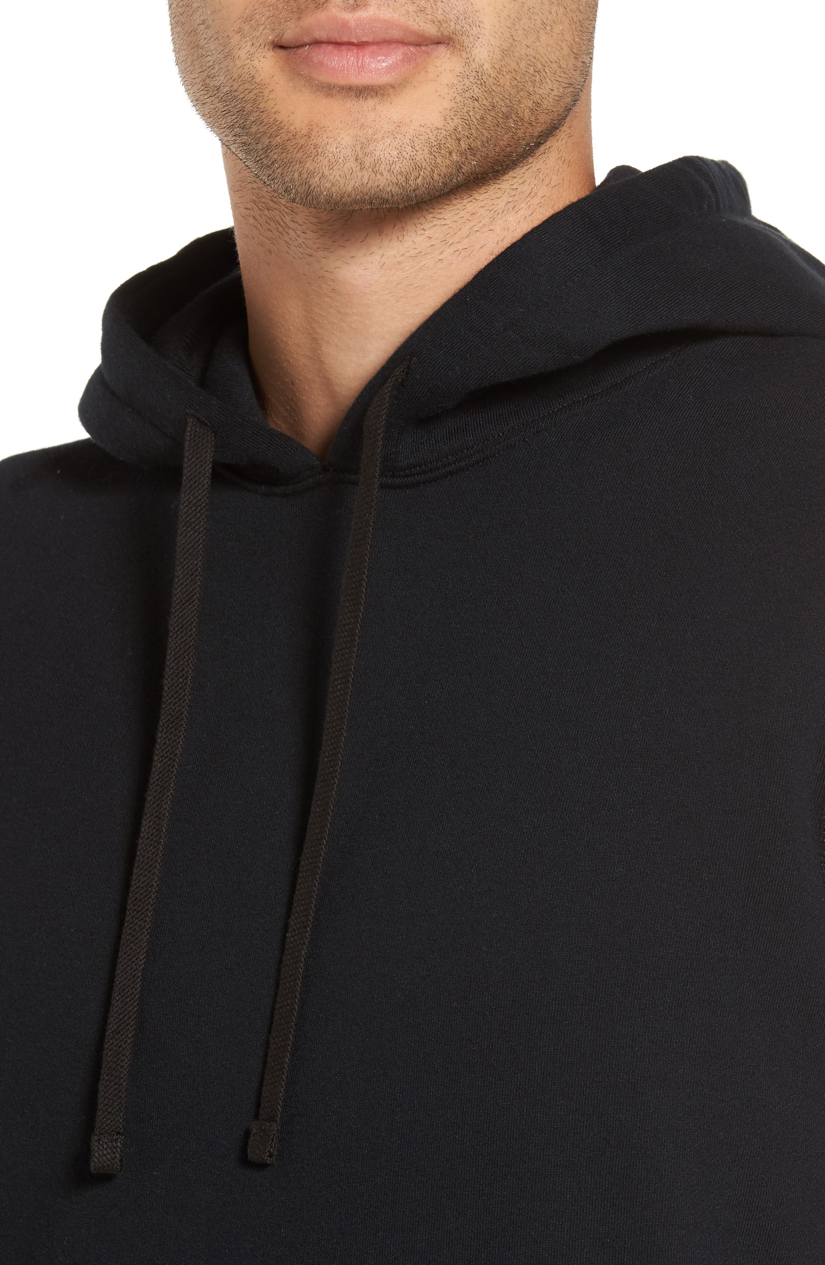 French Terry Hoodie,                             Alternate thumbnail 4, color,                             Black
