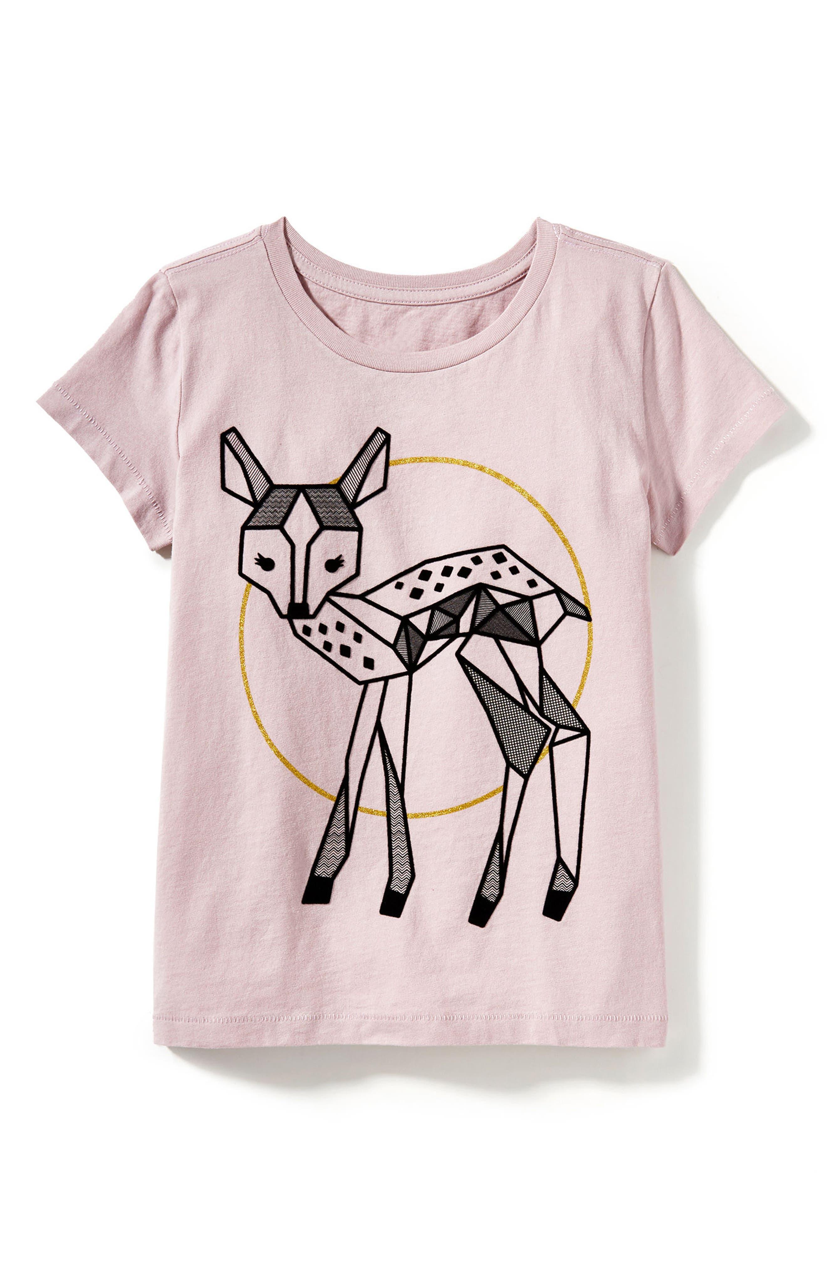 Peek Fawn Graphic Tee (Toddler Girls, Little Girls & Big Girls)