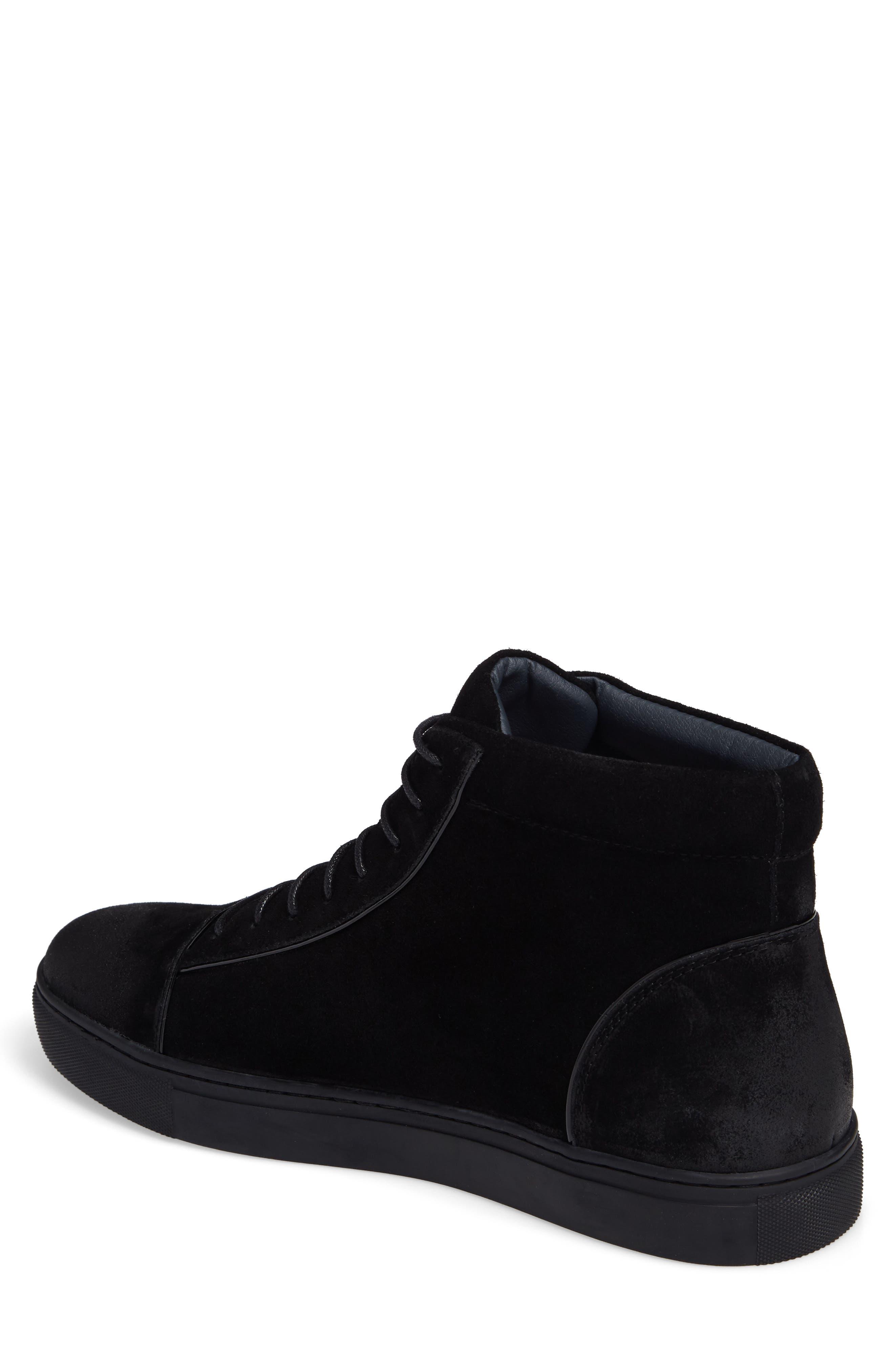 Grundy Sneaker,                             Alternate thumbnail 2, color,                             Black Suede