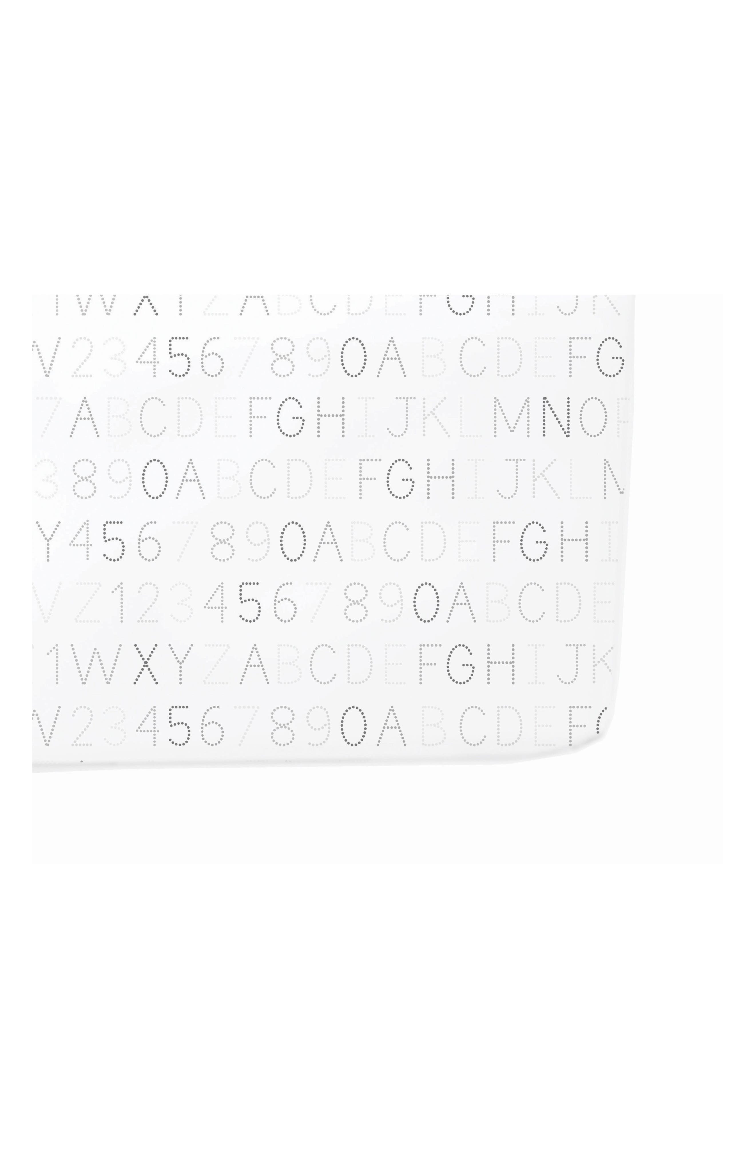 Alphabet Print Crib Sheet,                             Main thumbnail 1, color,                             Grey