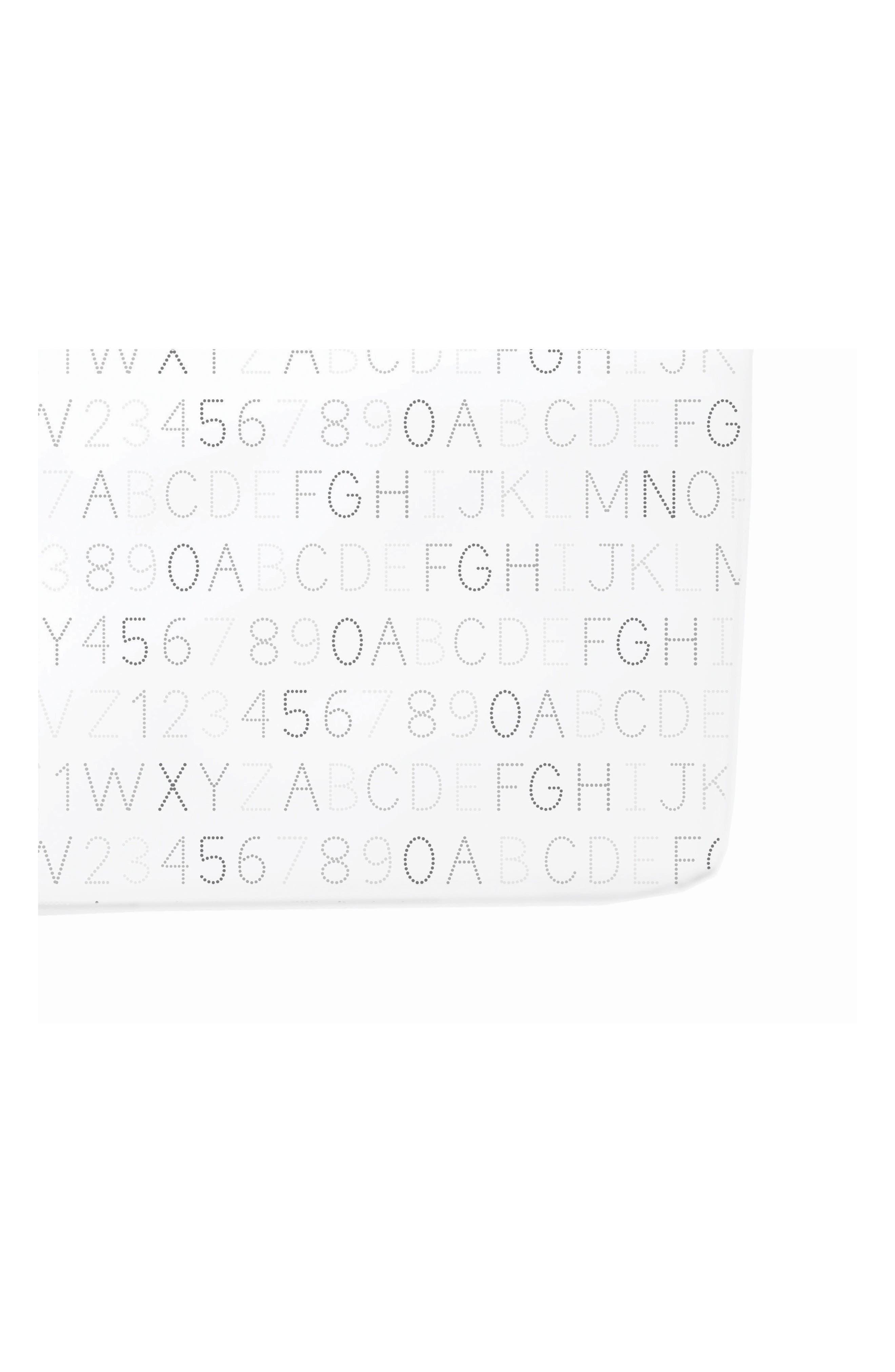 Alphabet Print Crib Sheet,                         Main,                         color, Grey