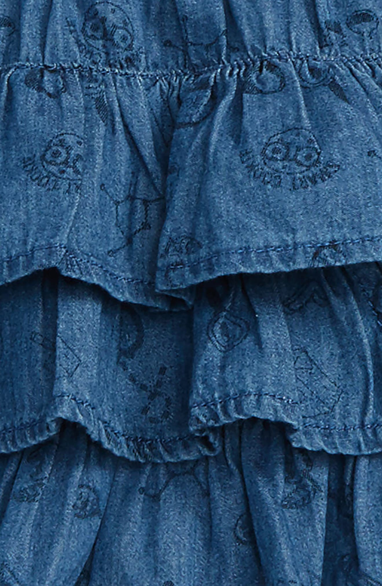 Alternate Image 2  - Rosie Pope Ruffle Chambray Dress (Baby Girls)