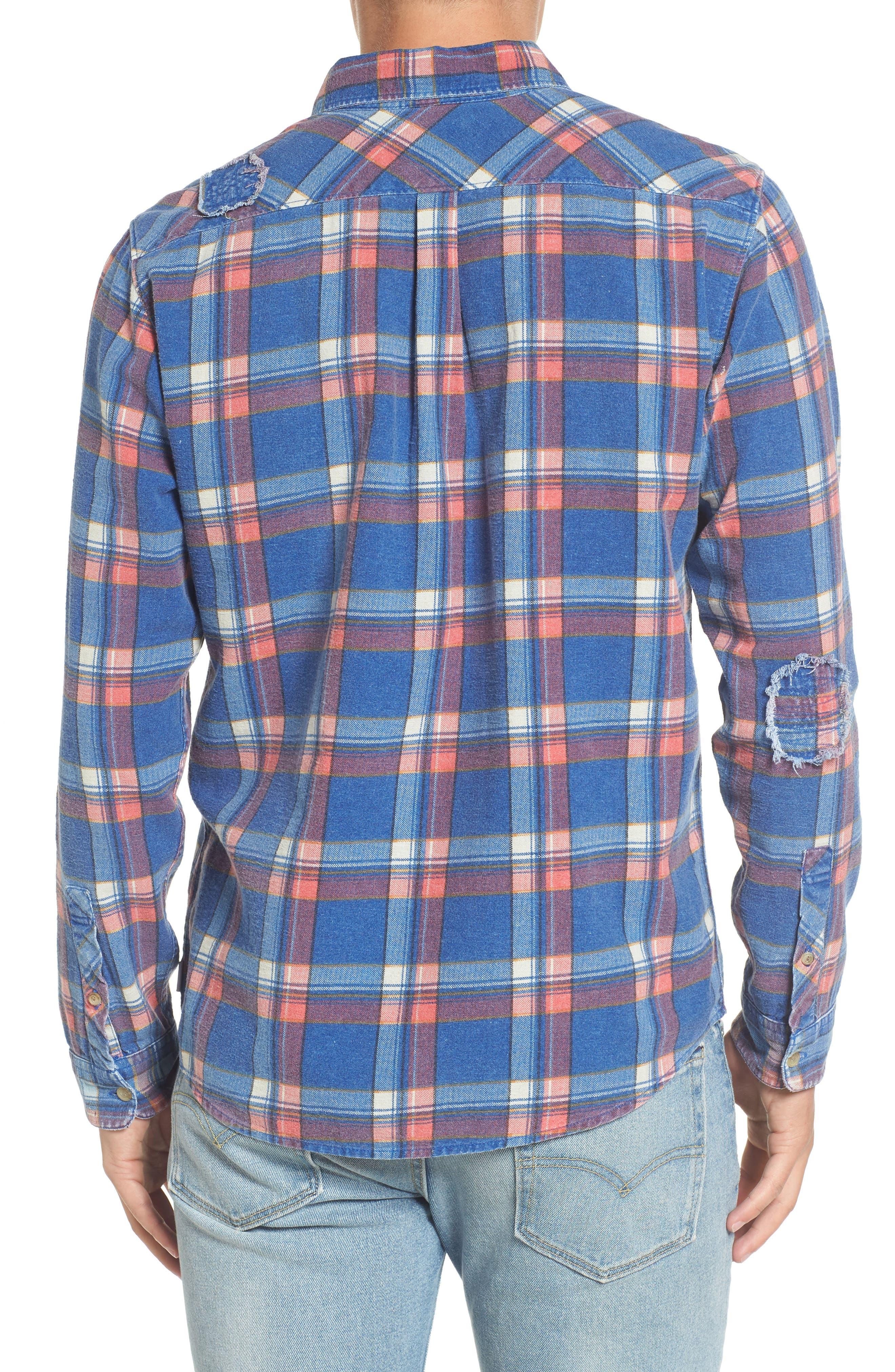 Alternate Image 2  - RVCA x Kevin Long Plaid Shirt