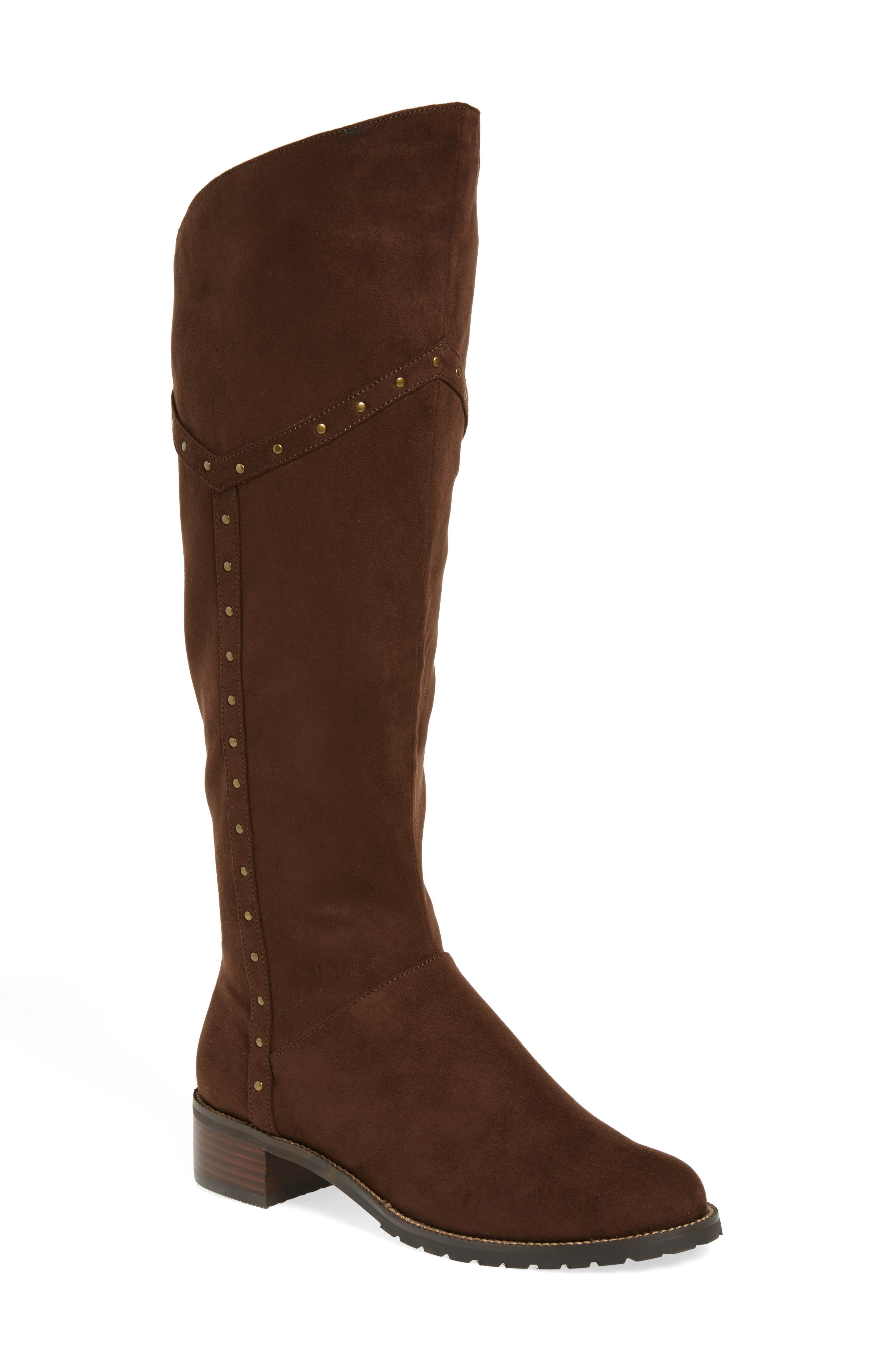 Alanis II Tall Boot,                         Main,                         color, Brown Suede