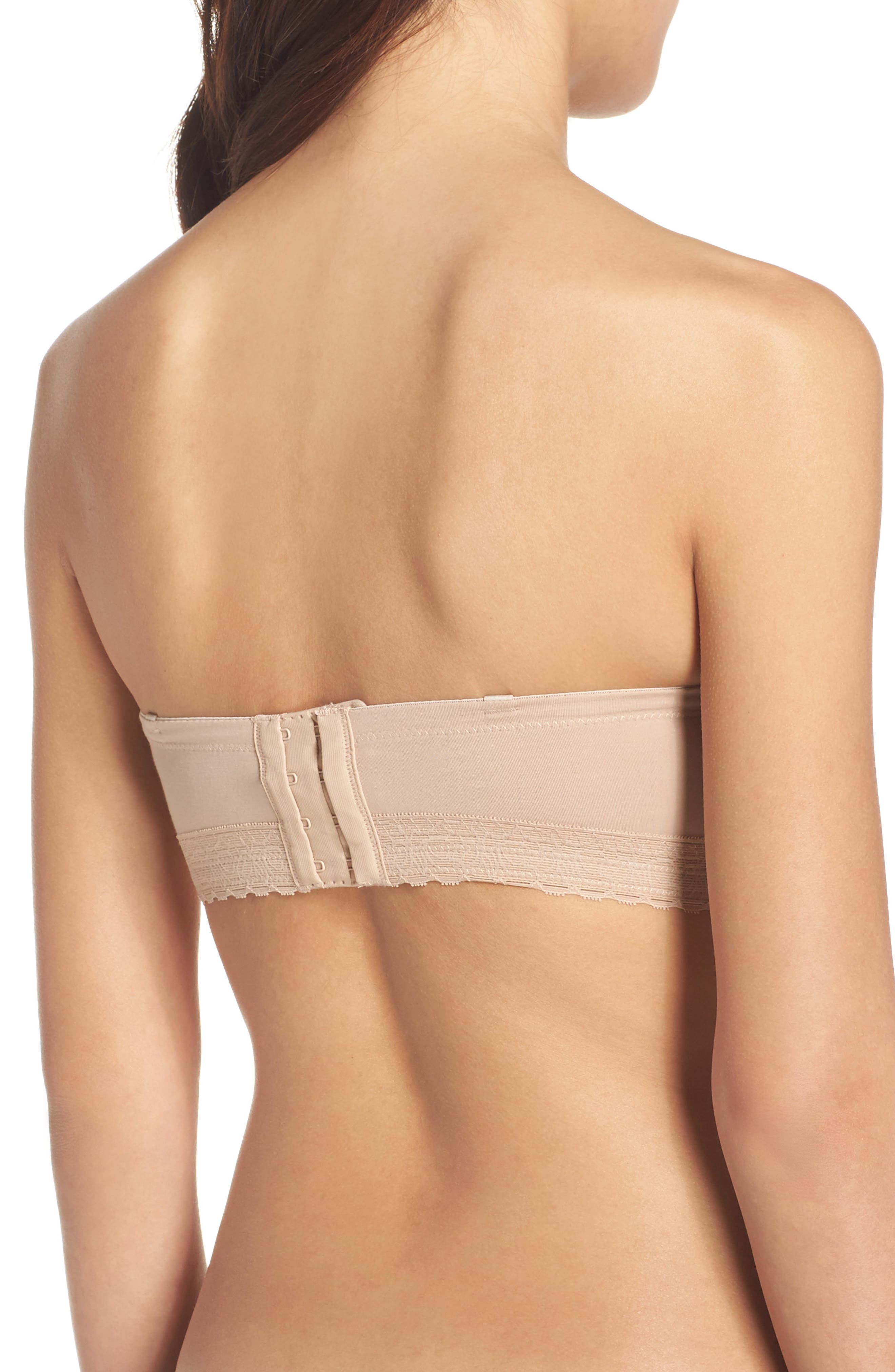 'Truly Smooth' Strapless Underwire Bra,                             Alternate thumbnail 2, color,                             Cafe
