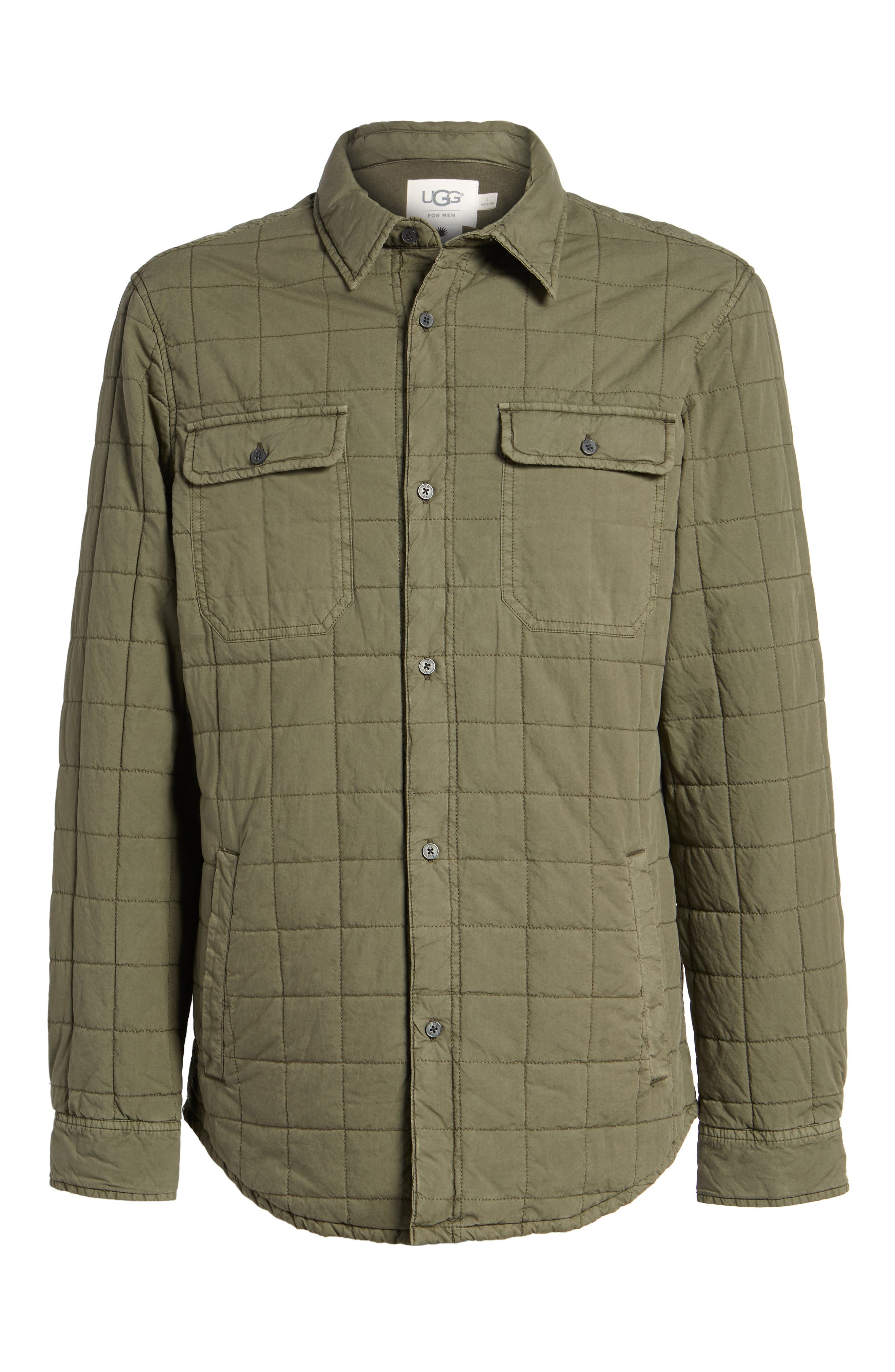 Alternate Image 6  - UGG® Quilted Shirt Jacket