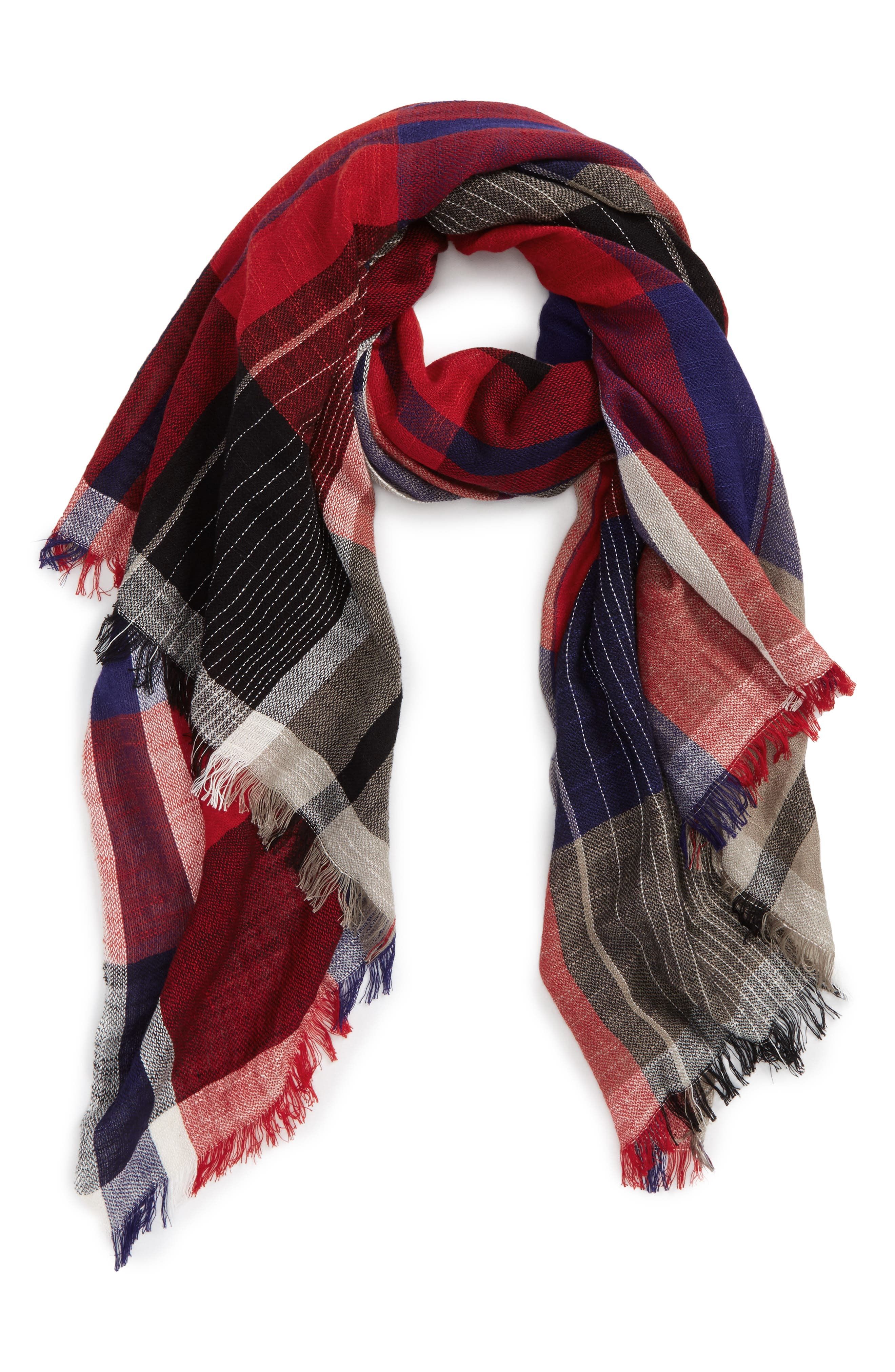 David & Young Oblong Plaid Scarf