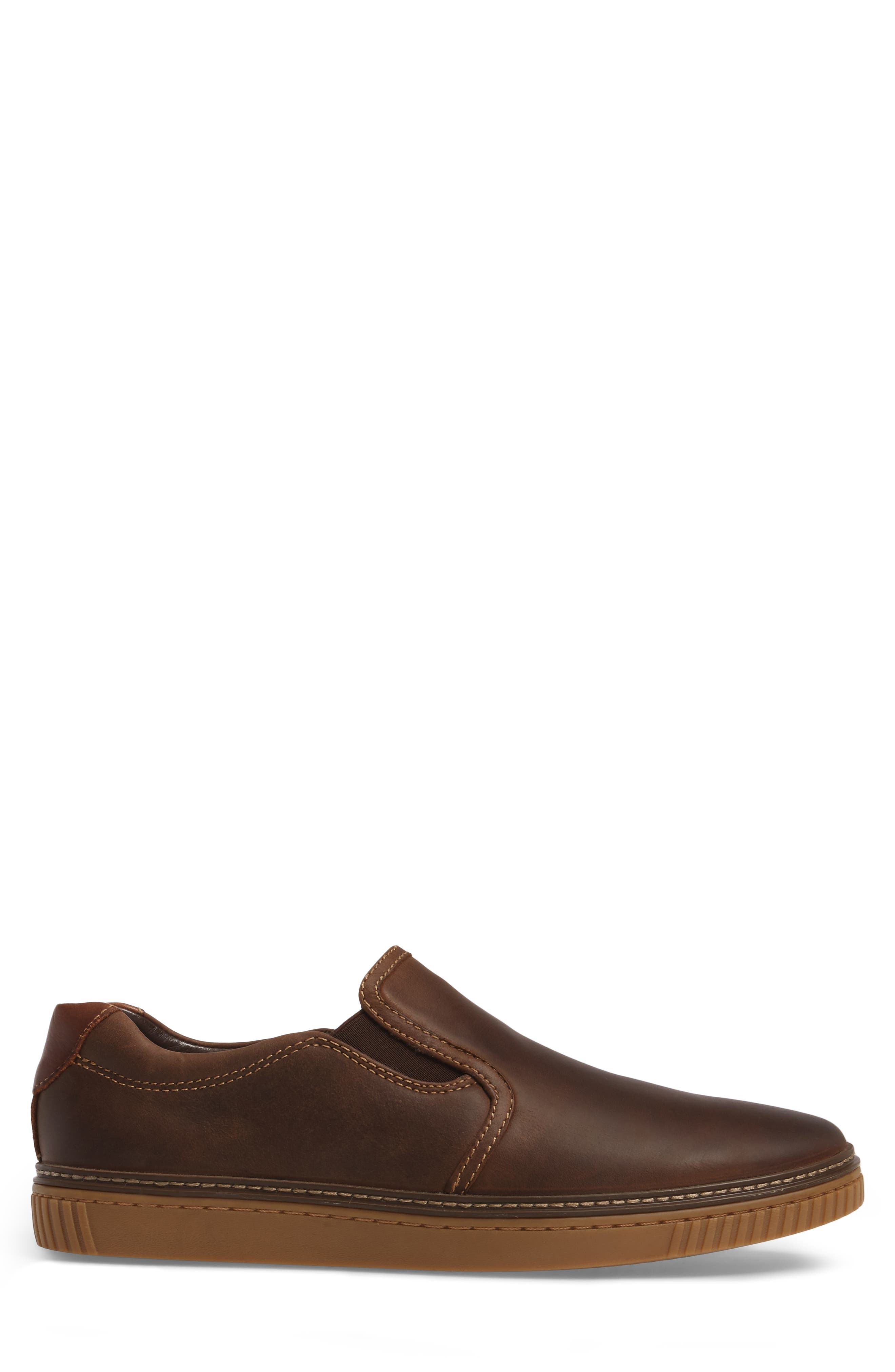 Wallace Slip-On Sneaker,                             Alternate thumbnail 3, color,                             Brown