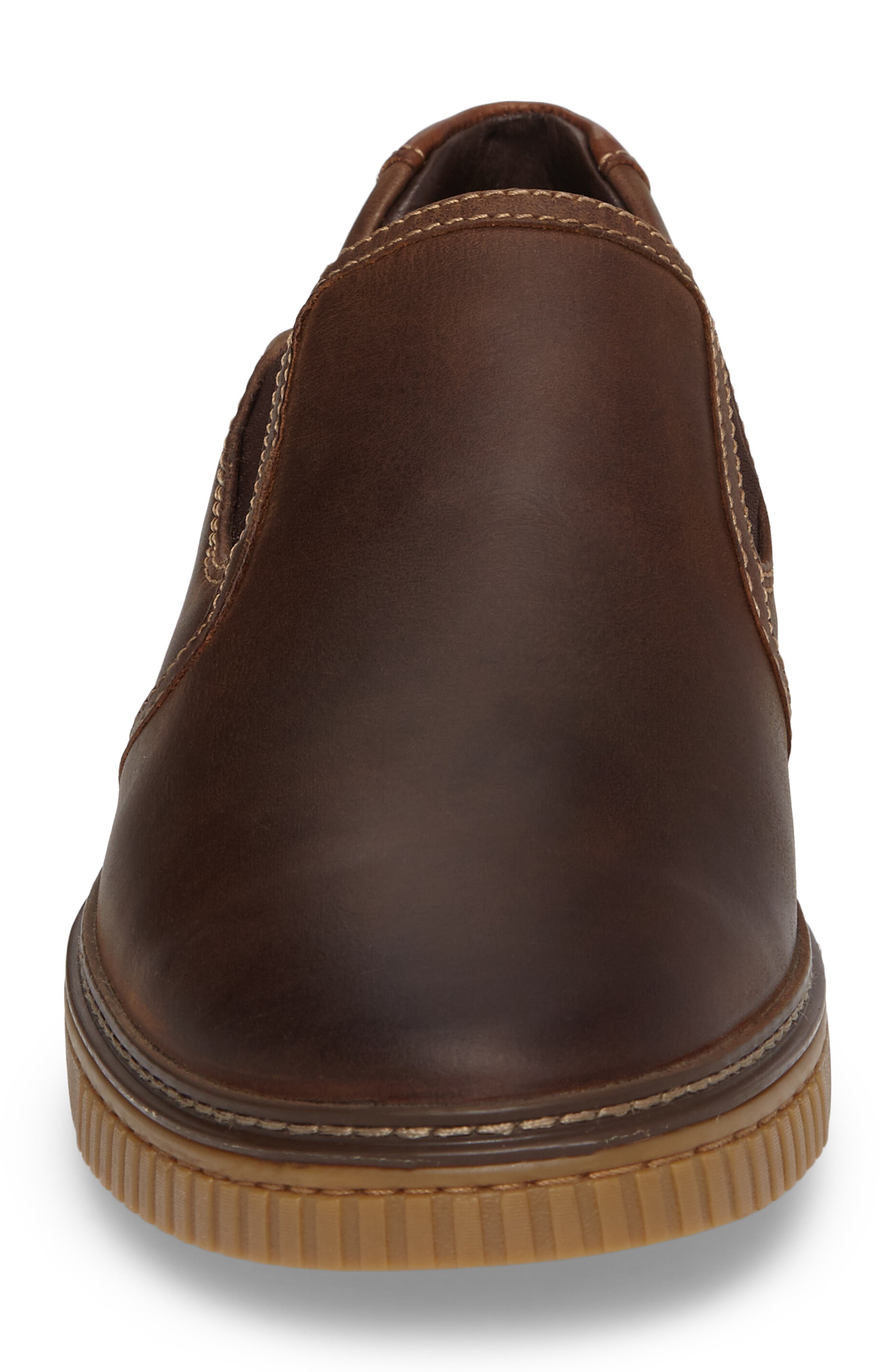 Wallace Slip-On Sneaker,                             Alternate thumbnail 4, color,                             Brown