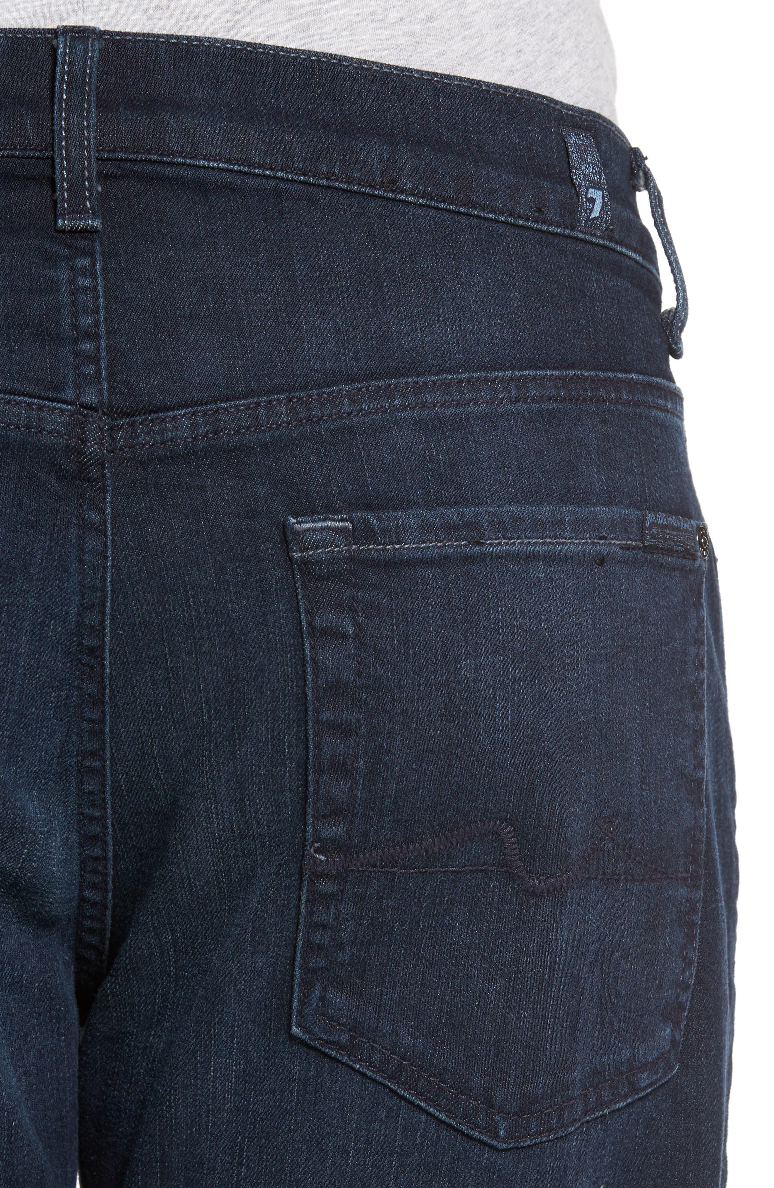 Luxe Performance - Carsen Straight Leg Jeans,                             Alternate thumbnail 4, color,                             Dark Current