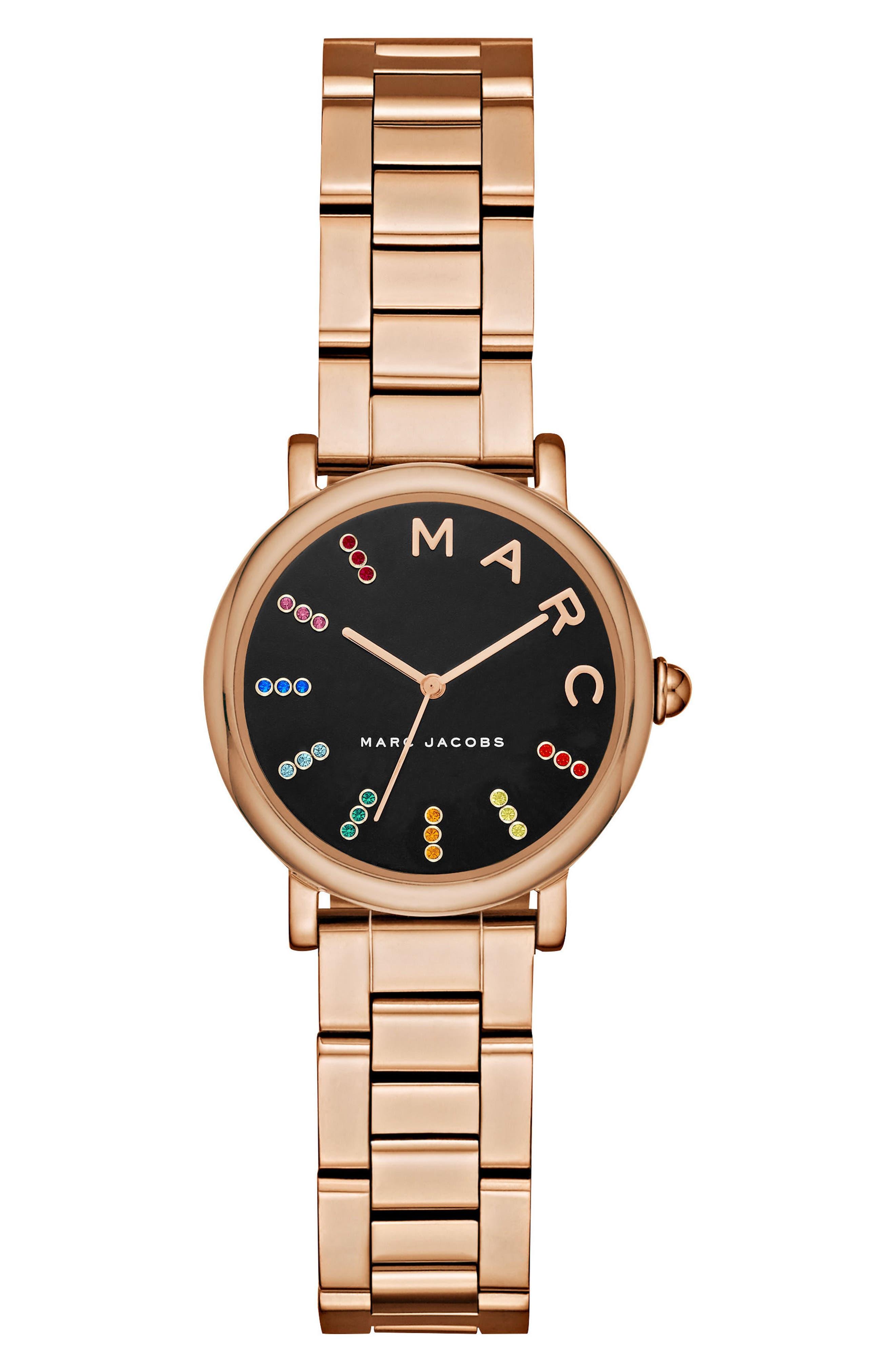 Main Image - MARC JACOBS Roxy Crystal Bracelet Watch, 28mm