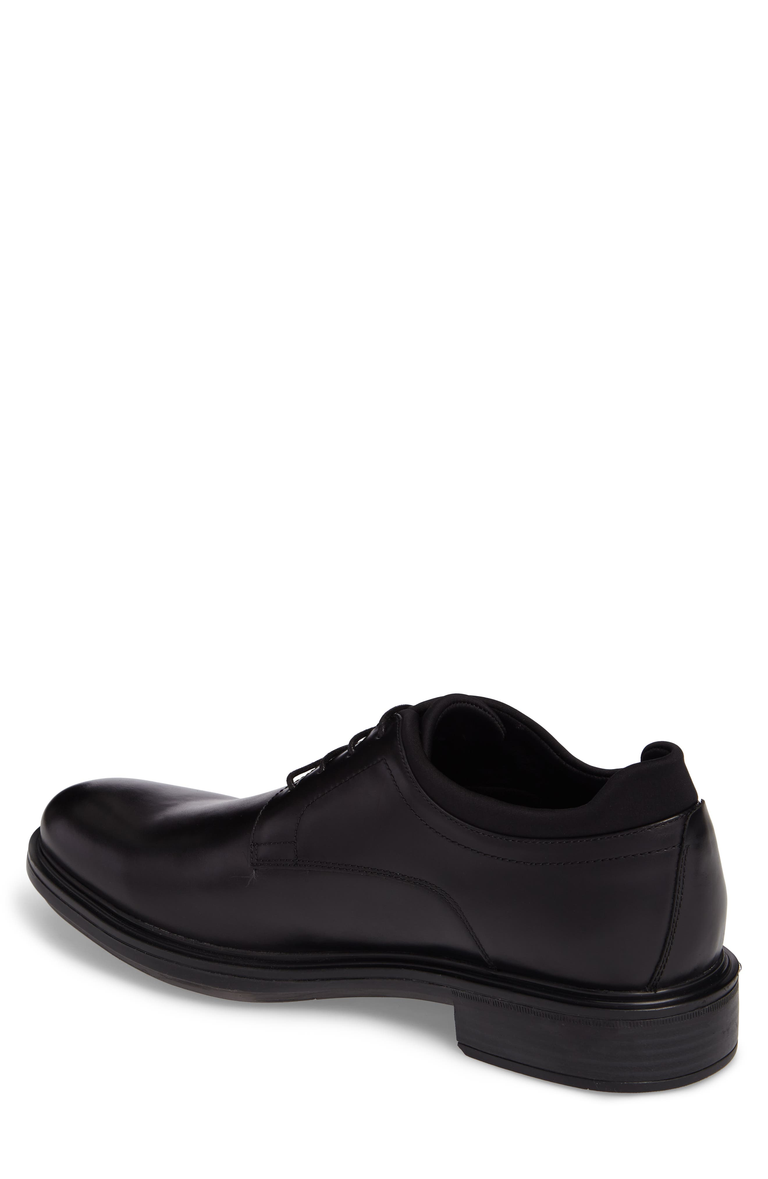 Plain Toe Derby,                             Alternate thumbnail 2, color,                             Black Leather